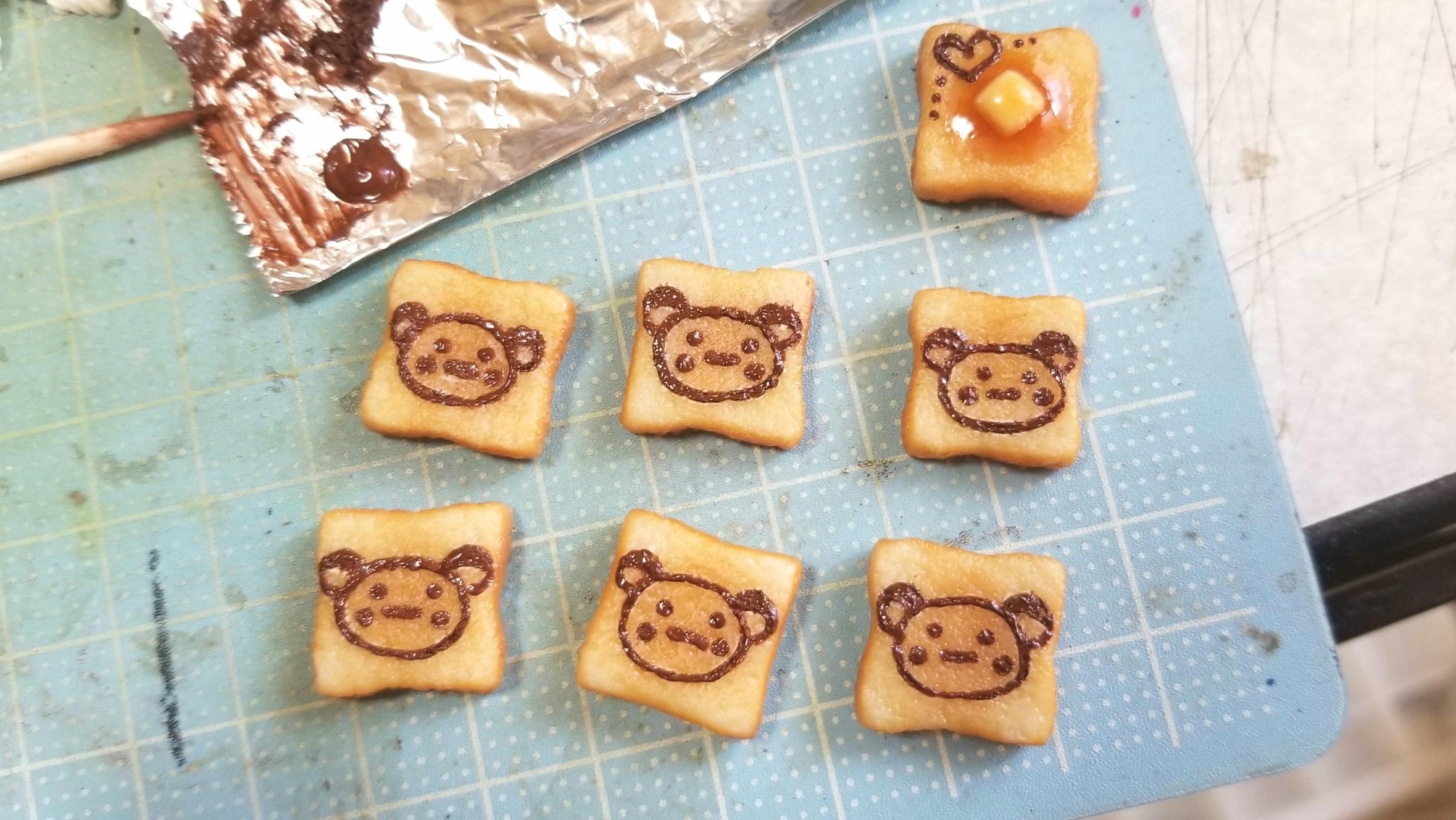 ミニチュアフードの作り方,食パントースト,かわいい小物,自作アート