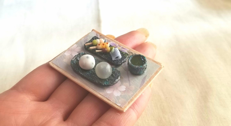 みたらし団子,和菓子,粘土,ミンネで販売中,ミニチュア,シルバニア