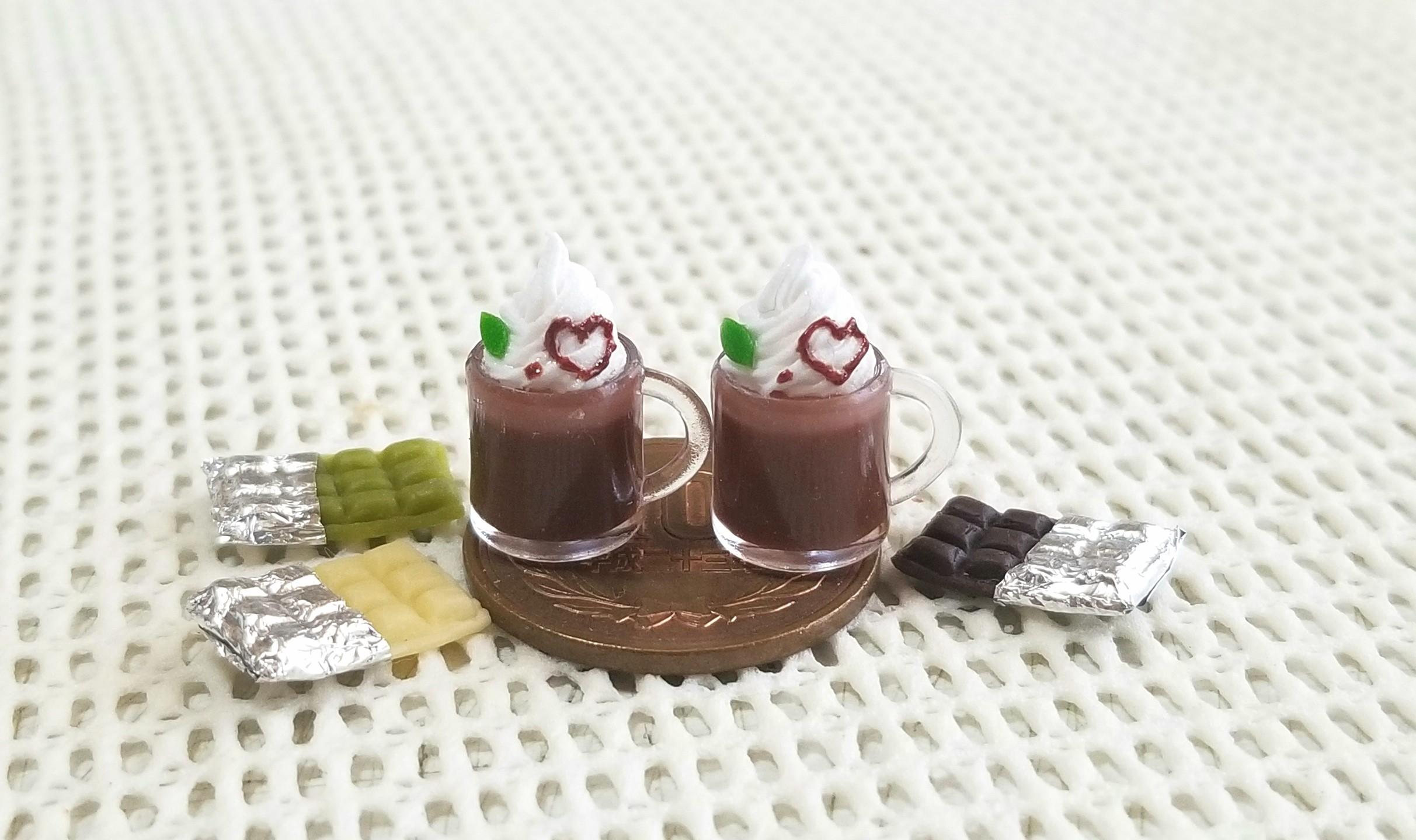 ミニチュアフード,チョコレートドリンク,ミニスウィーツドール,食品