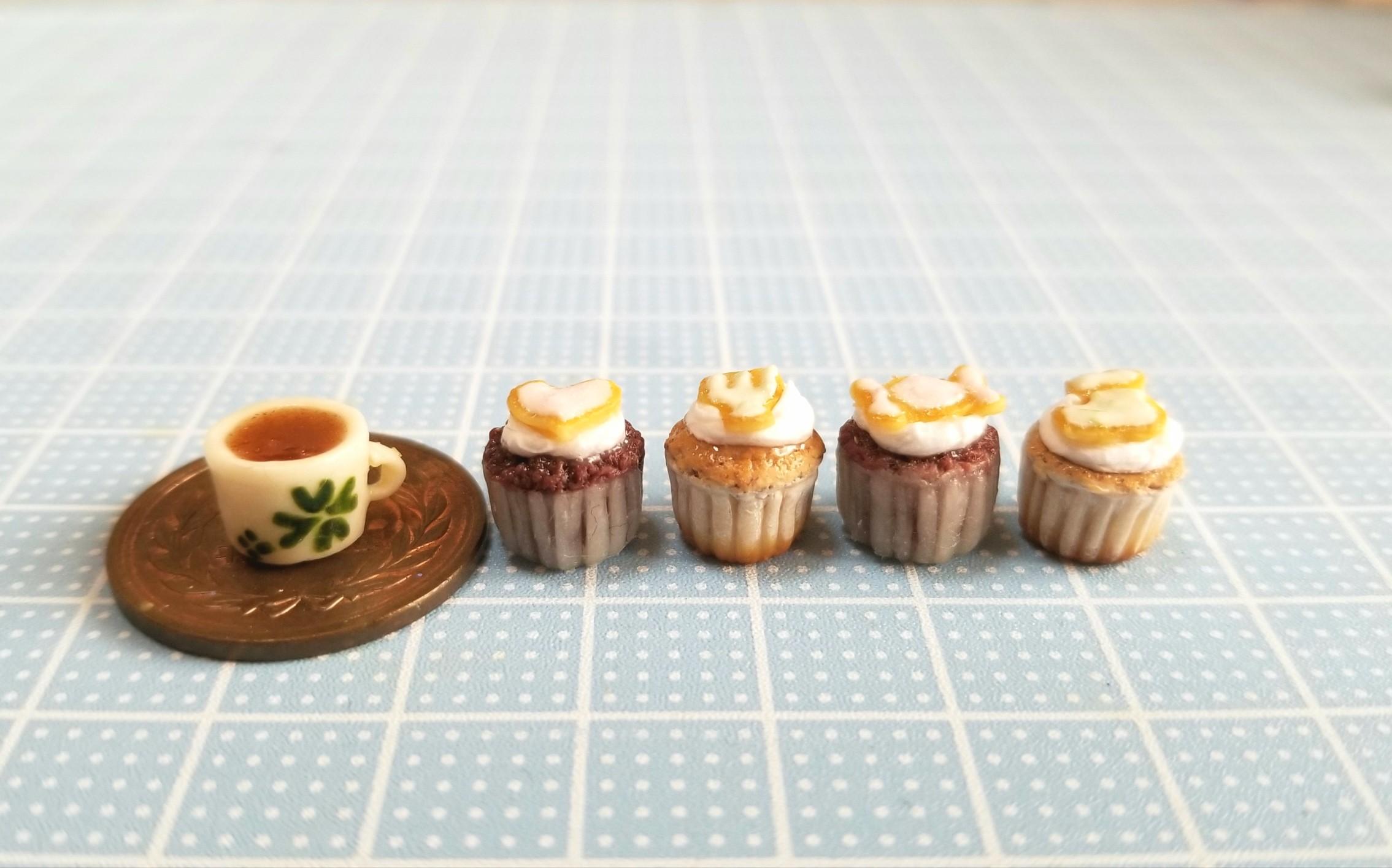 ミニチュアフード,チョコレート,カップケーキ,ココア,クッキー,樹脂