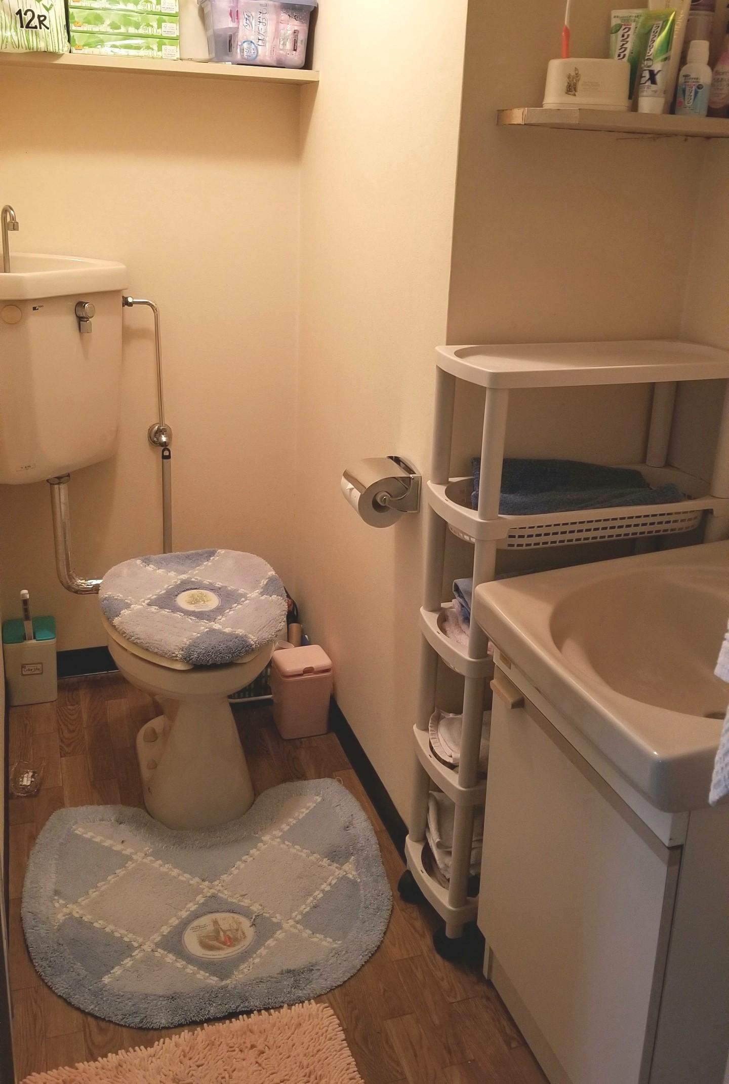 一人暮らしトイレバスルーム,ワンルームマンション,片付け掃除