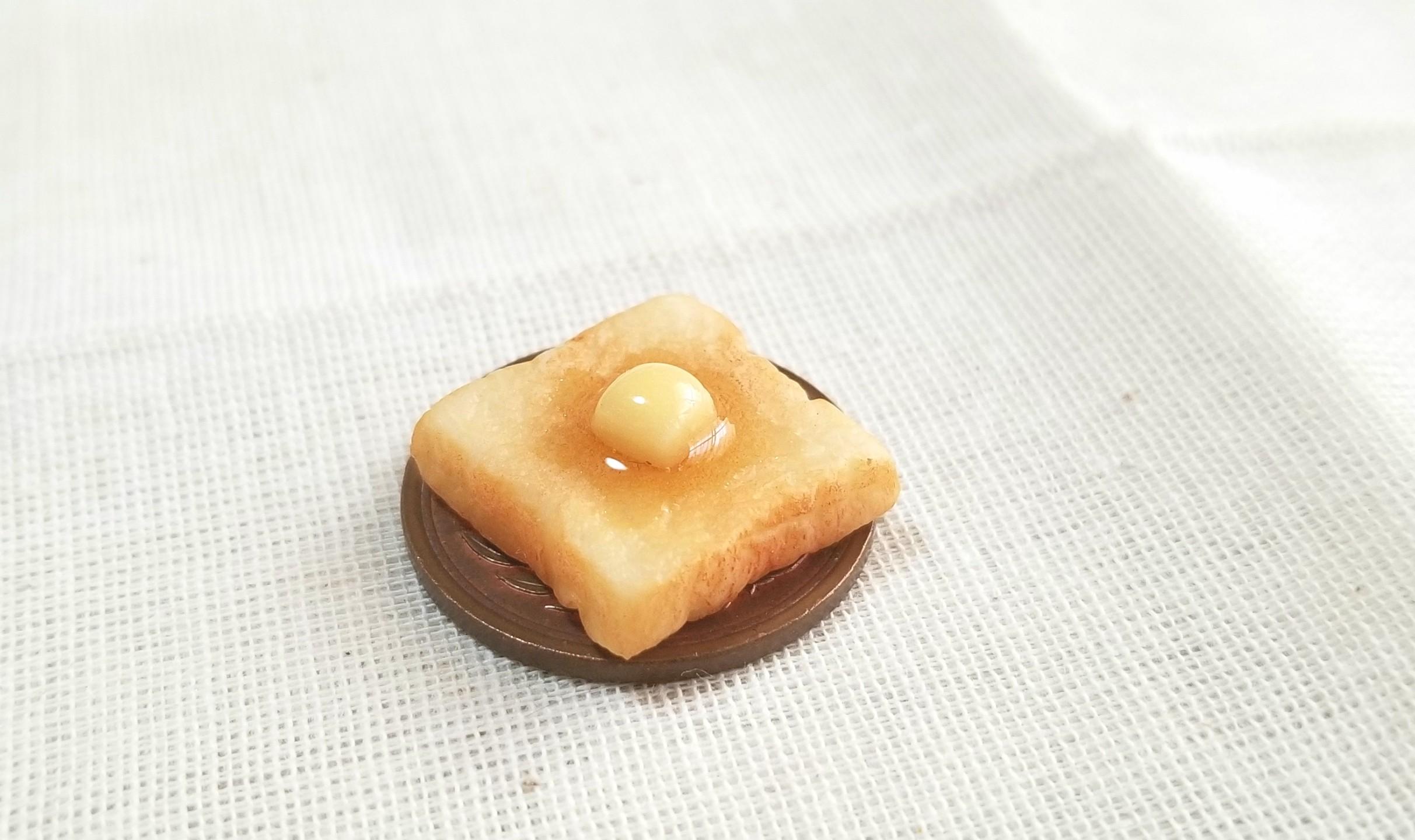 バタートースト,ミニチュアフード,食パン,樹脂粘土,ねんどろいど