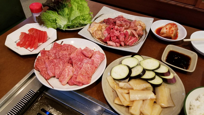 愛媛県松山市焼肉立花おすすめ人気おいしいディナー霜降り和牛