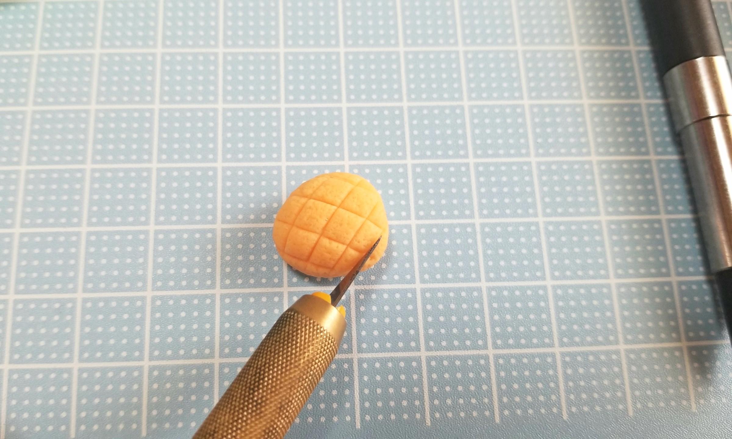 野菜メロンパン,ミニチュア,作り方,樹脂粘土,フェイクフード,ドール