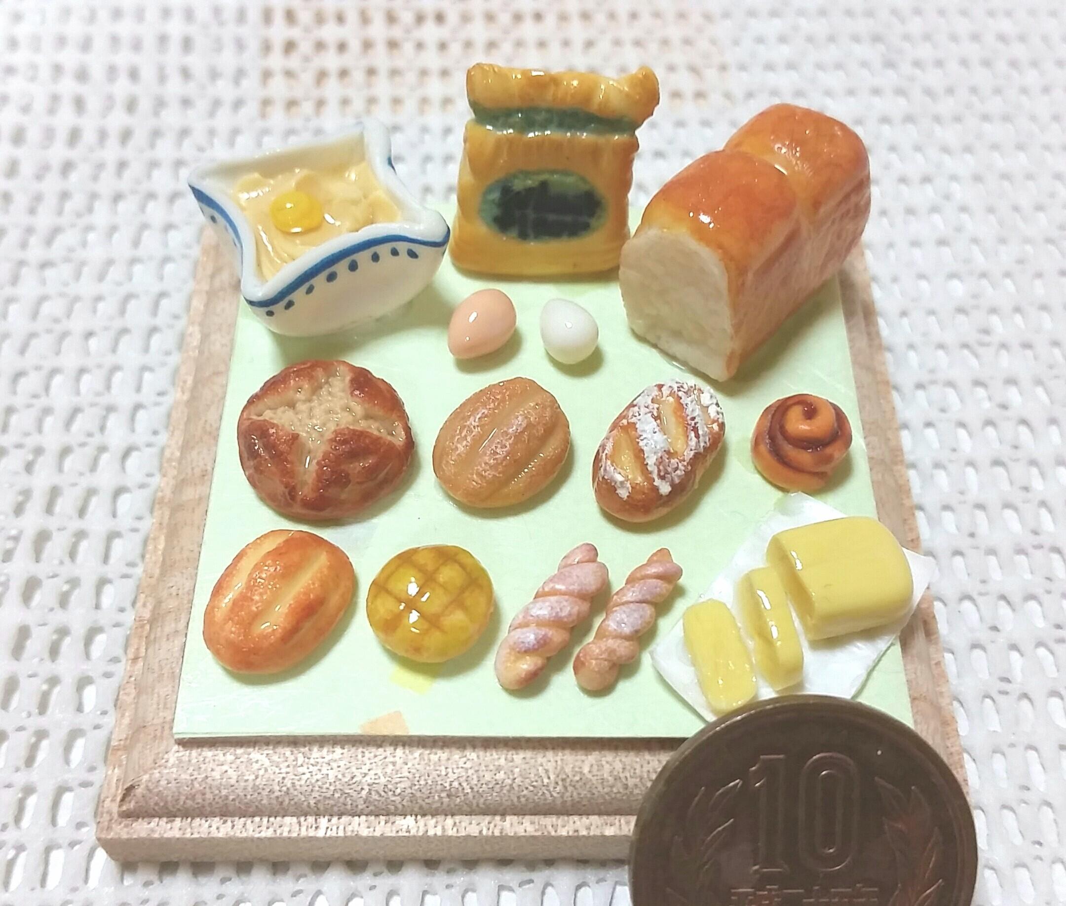 ミニチュアフード,パン,過去作品,食べ物,食品サンプル,ハンドメイド