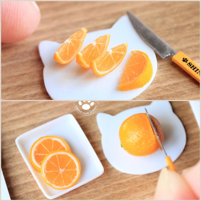 ミニチュアみかん,オレンジスライス,フェイクフード,手作り手料理