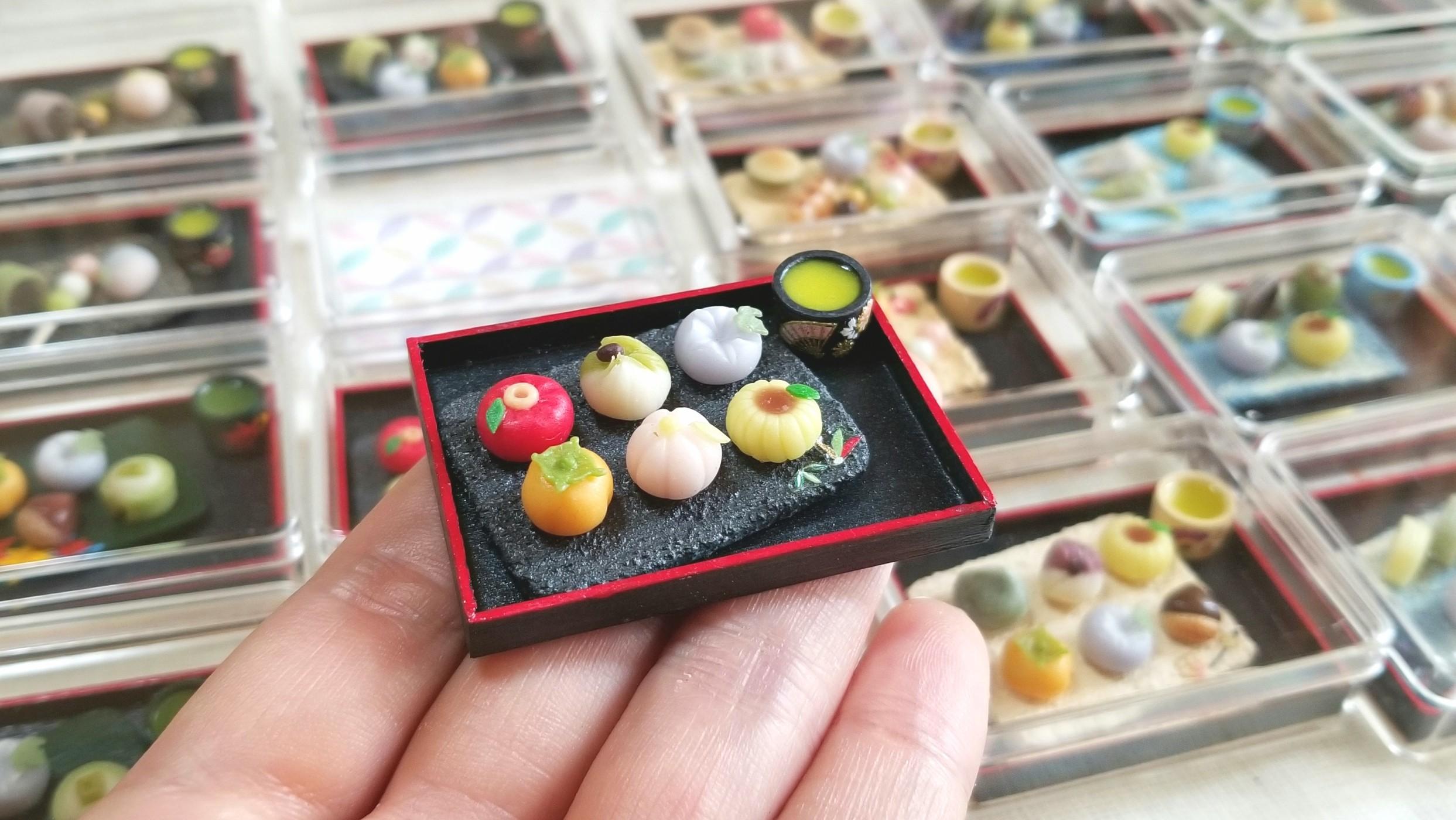 ミニチュアフード,和菓子,小さい,可愛い,美味しい,練りきり,ドール