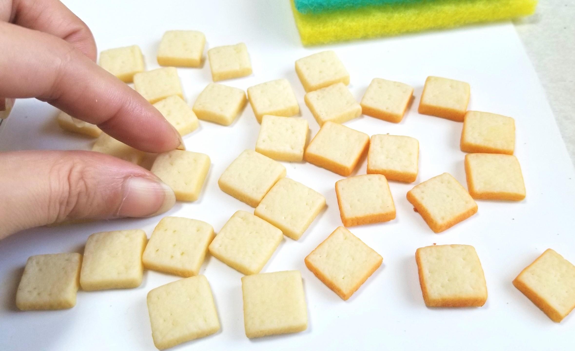 ミニチュアフード,食パン,トースト,作り方,樹脂粘土,フェイクフード
