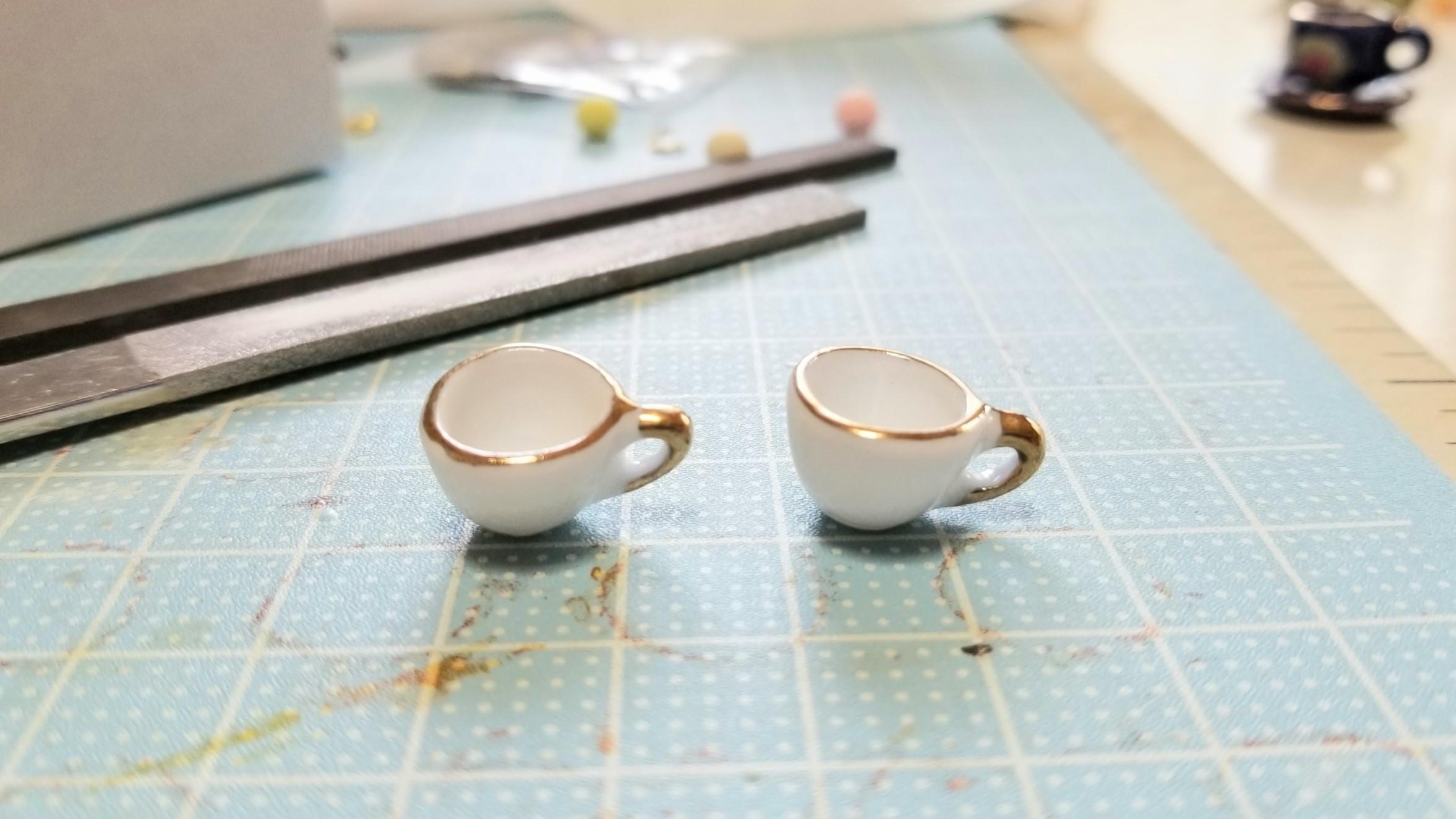 陶器のティーカップセット飲み物ドリンクハンドメイドフェイク手作り