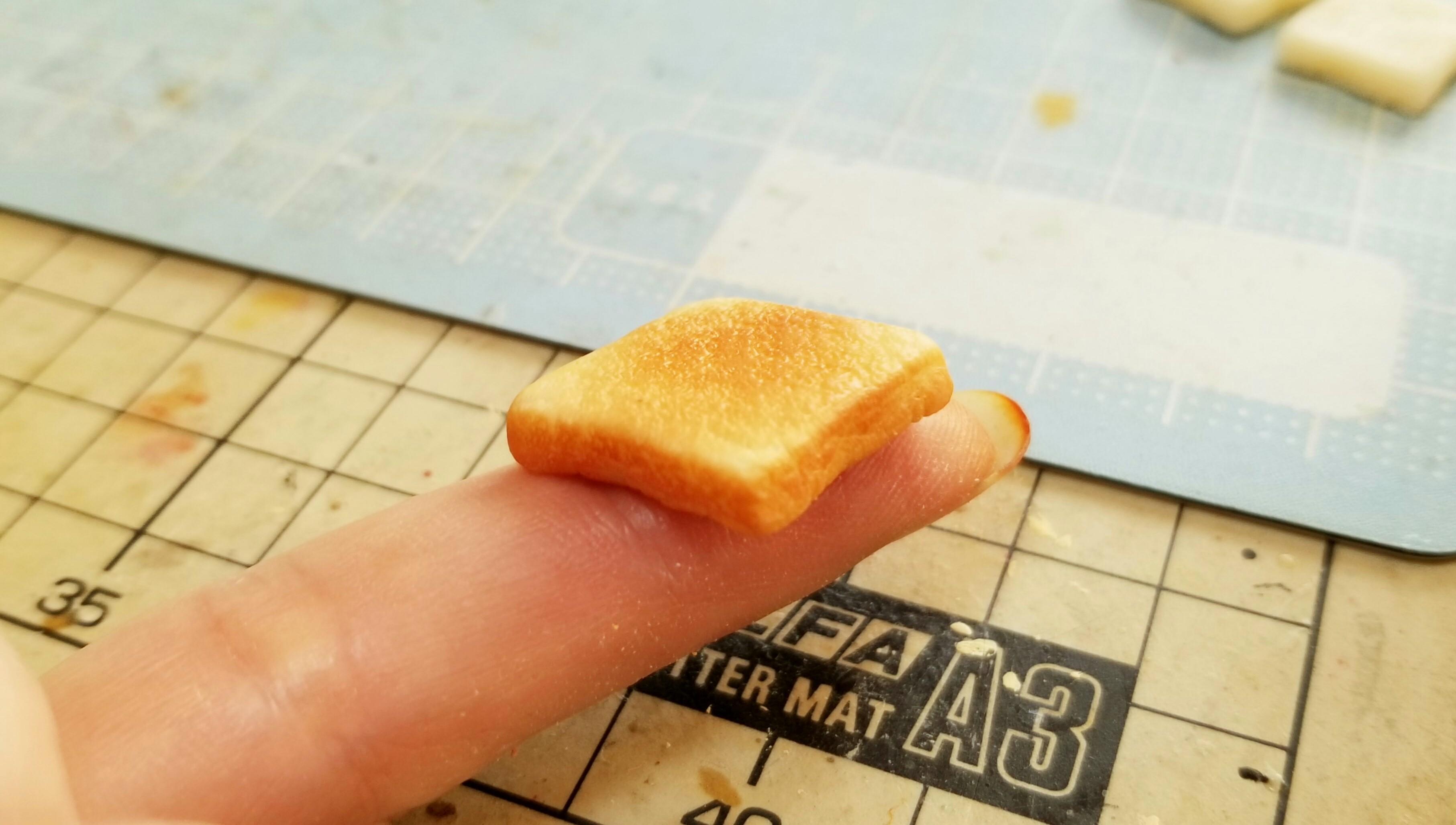 ミニチュアの作り方食パントースト美味しいそうな画像かわいいリアル