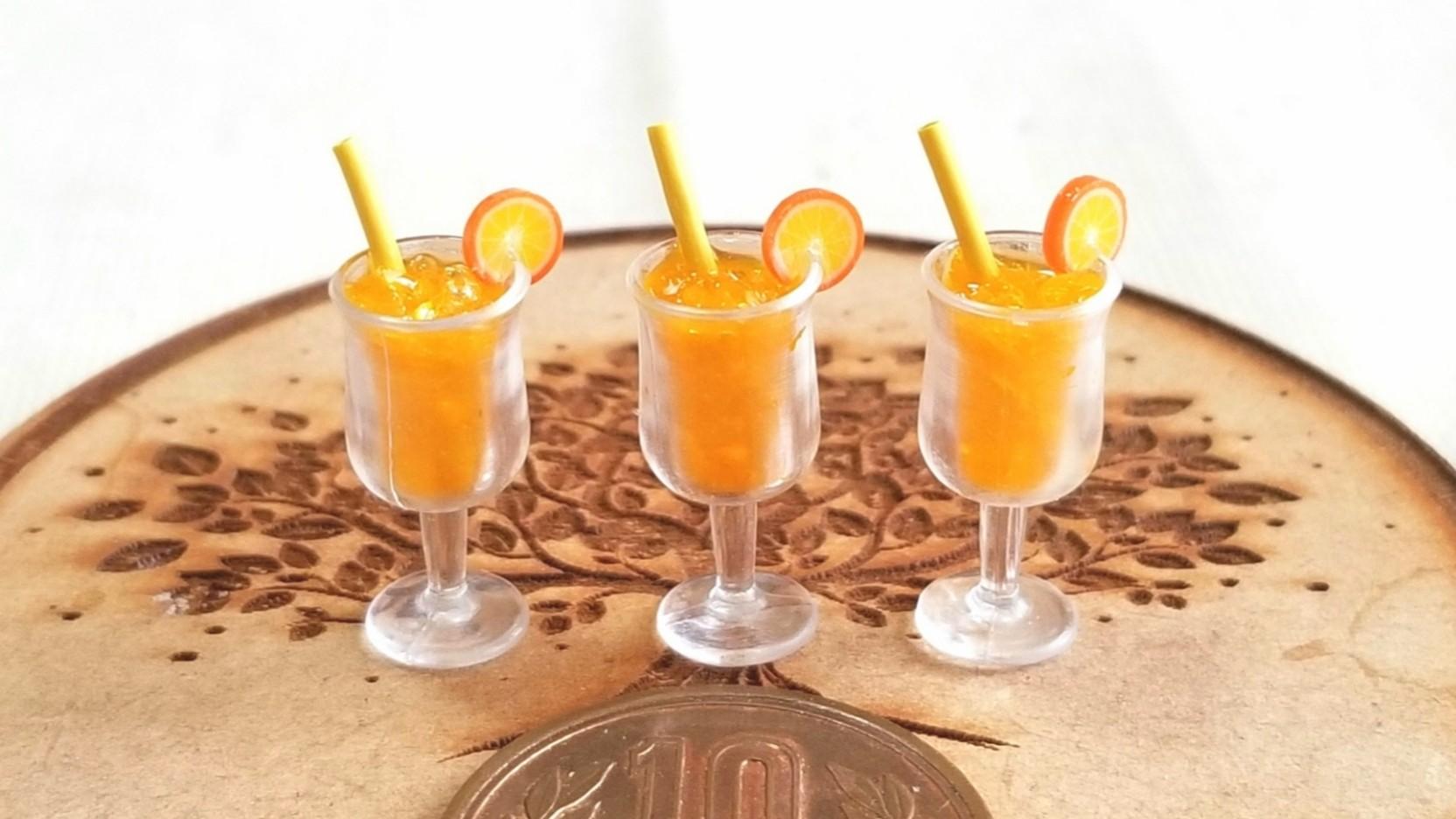 ミンネ販売,ミニチュアオレンジ,リカちゃん,バービー人形グッズ,飲料