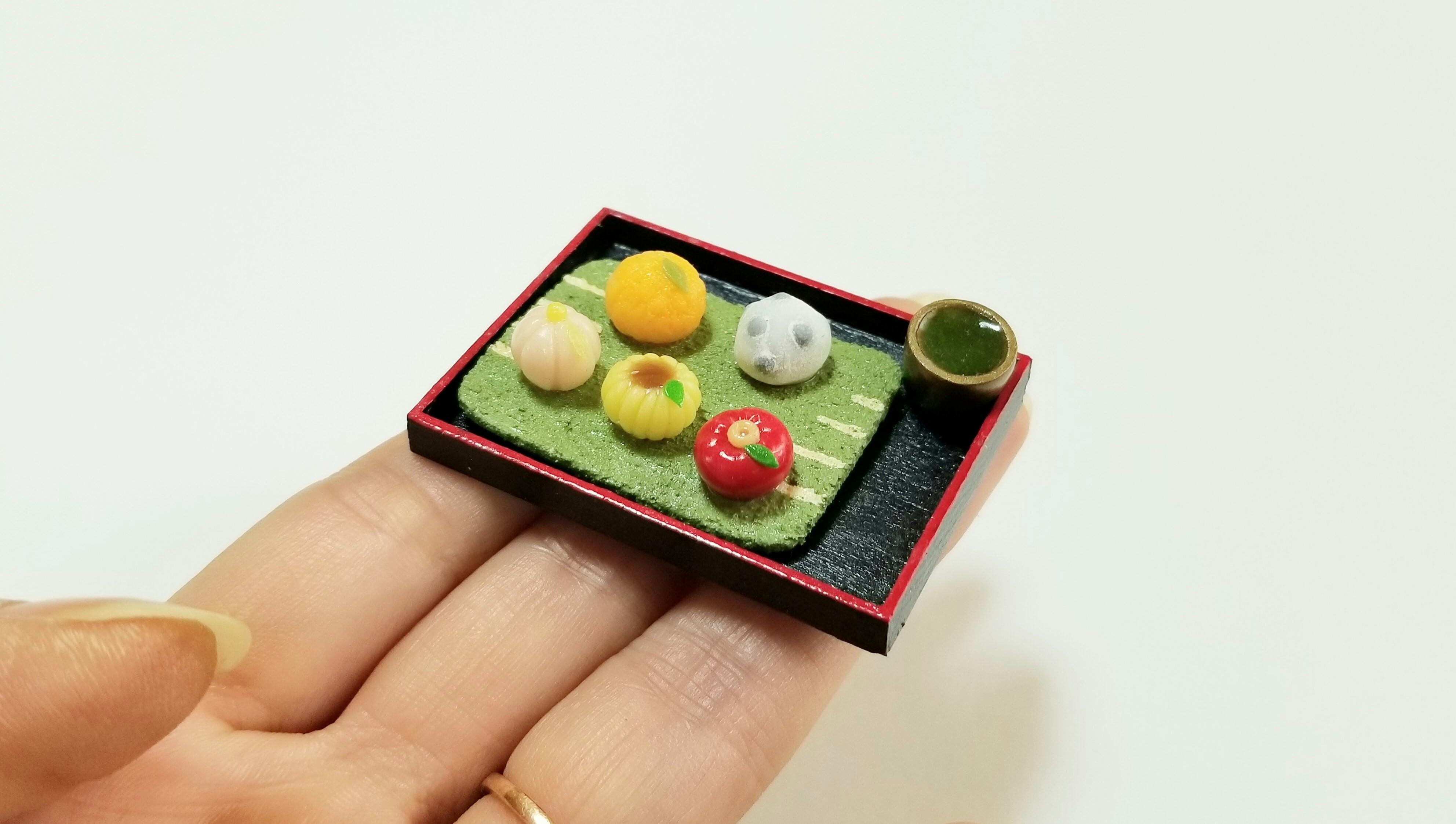 ミニチュアフードリアル小さな世界和菓子大福練り切りアート人気小物