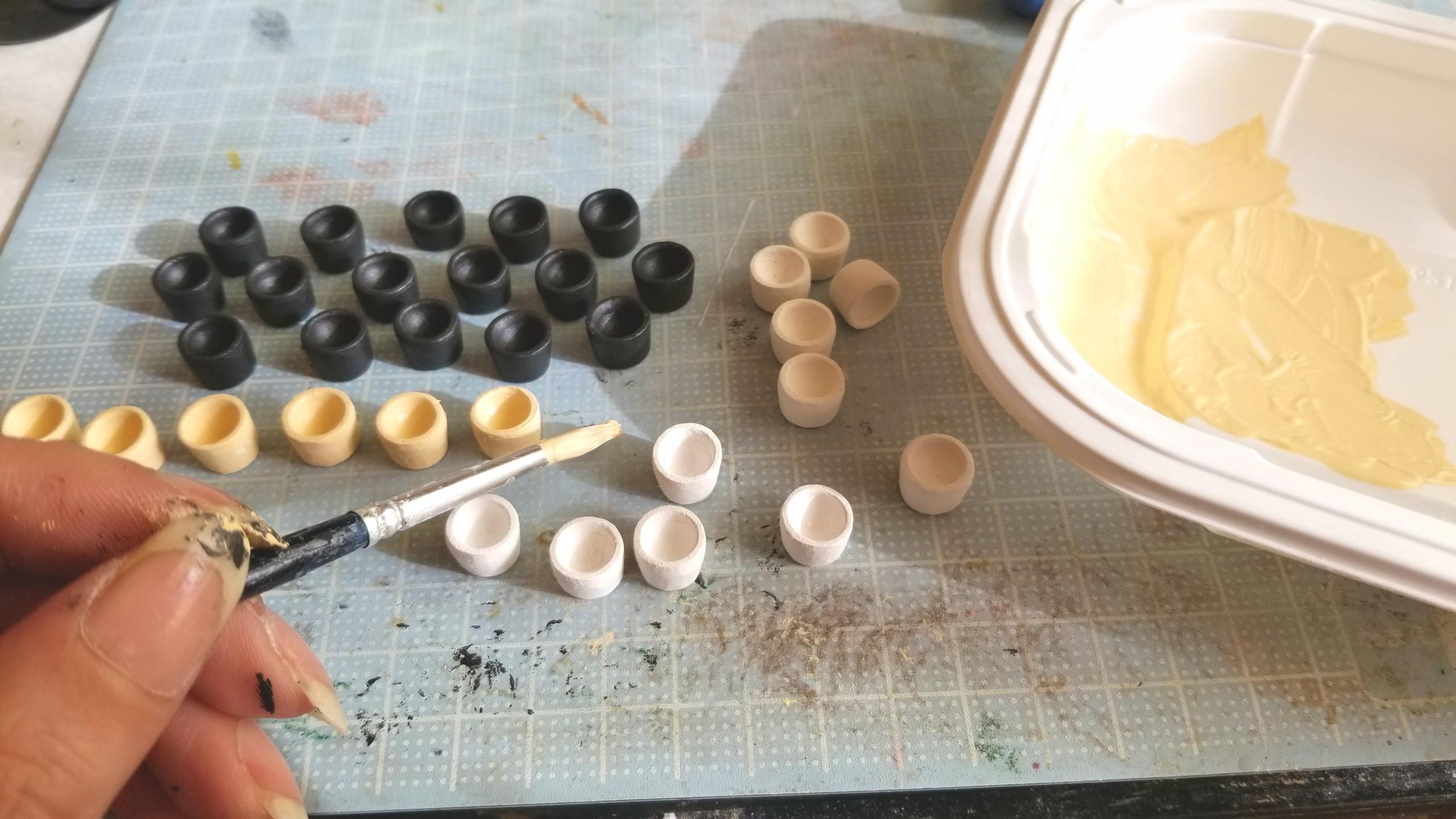 お抹茶,コップ,作り方,石塑,お茶,ドールハウス,ミニチュアフード