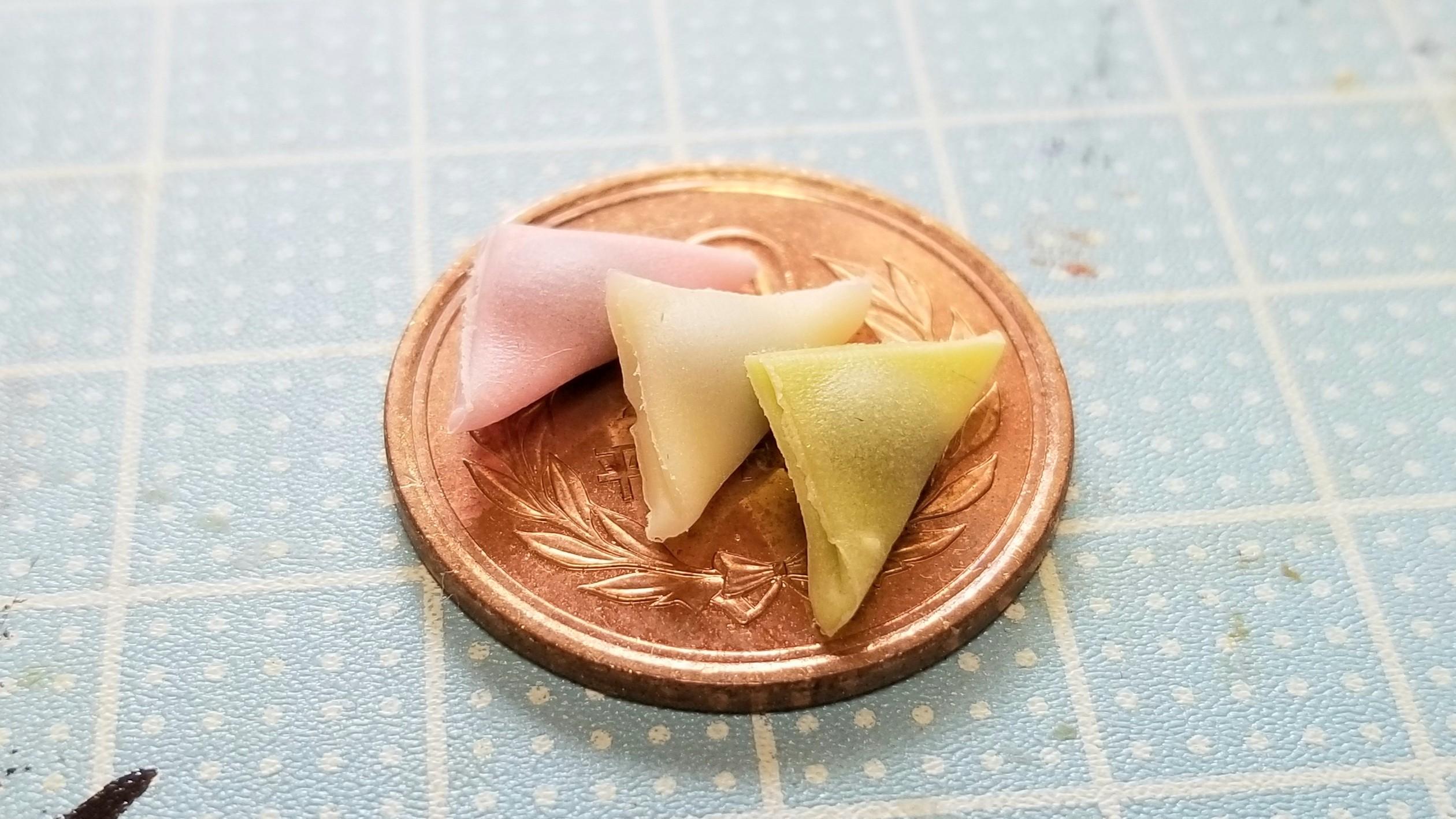 かわいいミニチュアフードリアルな小さな世界生和菓子自作アート