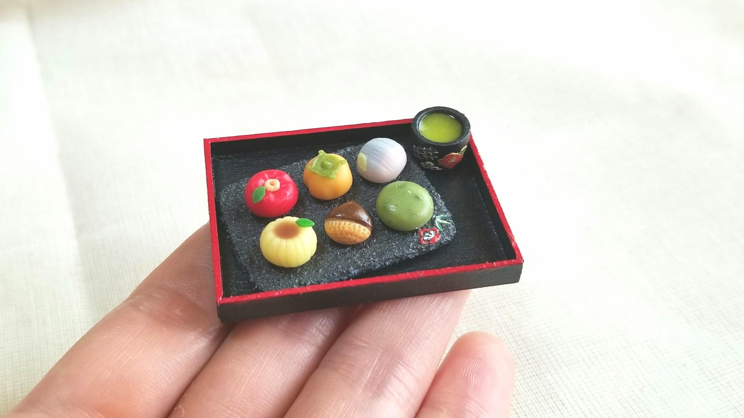 ミニチュアフード和菓子,生菓子,おいしい季節の有名茶菓,人気ブログ