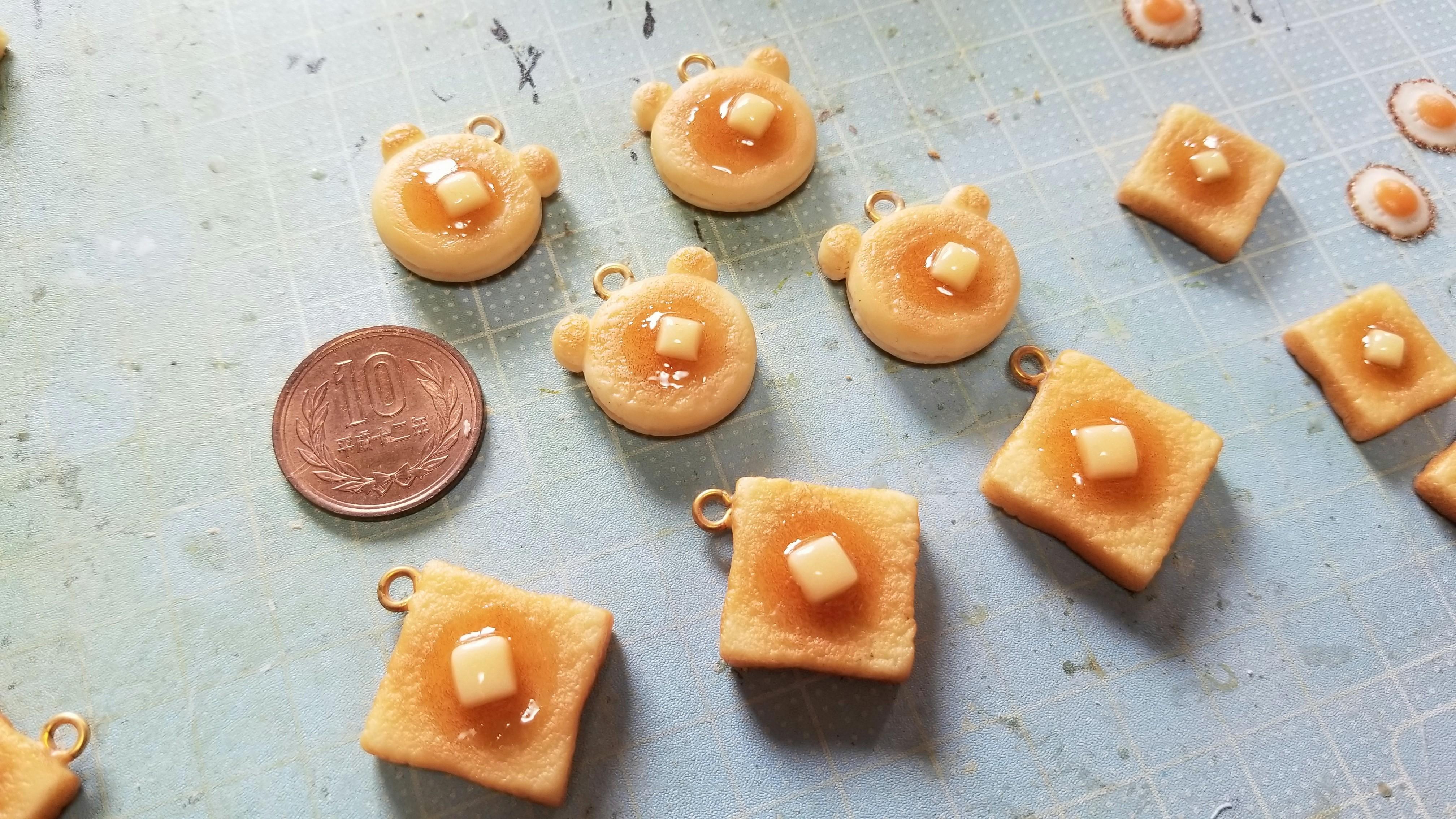 終ミニチュアフードハンドメイドかわいい小物パン手作り仕事フェイク