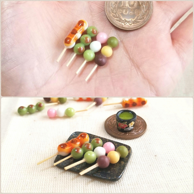 日本人の和心,癒し,癒される,お花見,団子,餅,美味しそう,ミニチュア