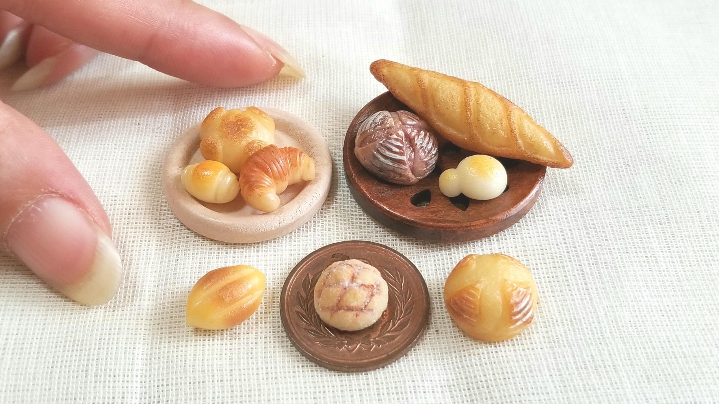 ミニチュアフード,選べる美味しいパン屋,カンパーニュ,ミンネで販売
