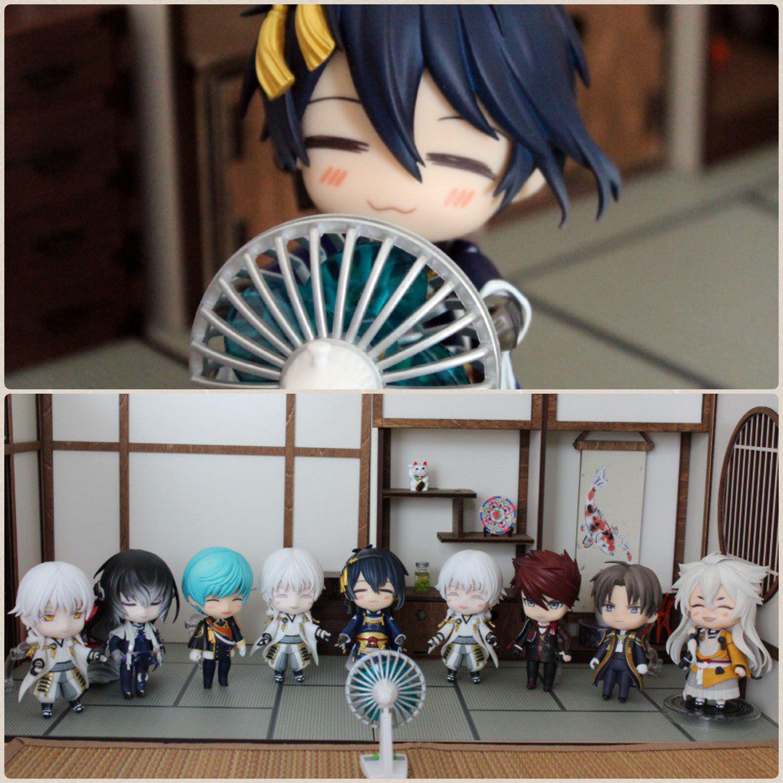 ねんどろ刀剣男士,夏だよ,扇風機で涼しくなる,綺麗な和室は最高