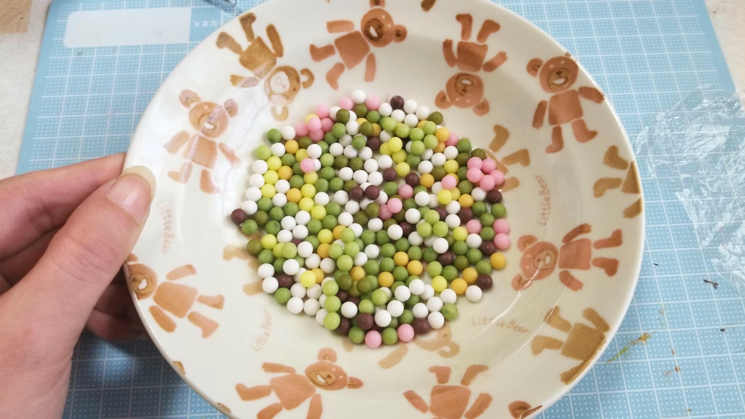 お団子,作り方,和菓子,ミニチュアフード,樹脂粘土,ドールハウス,和風