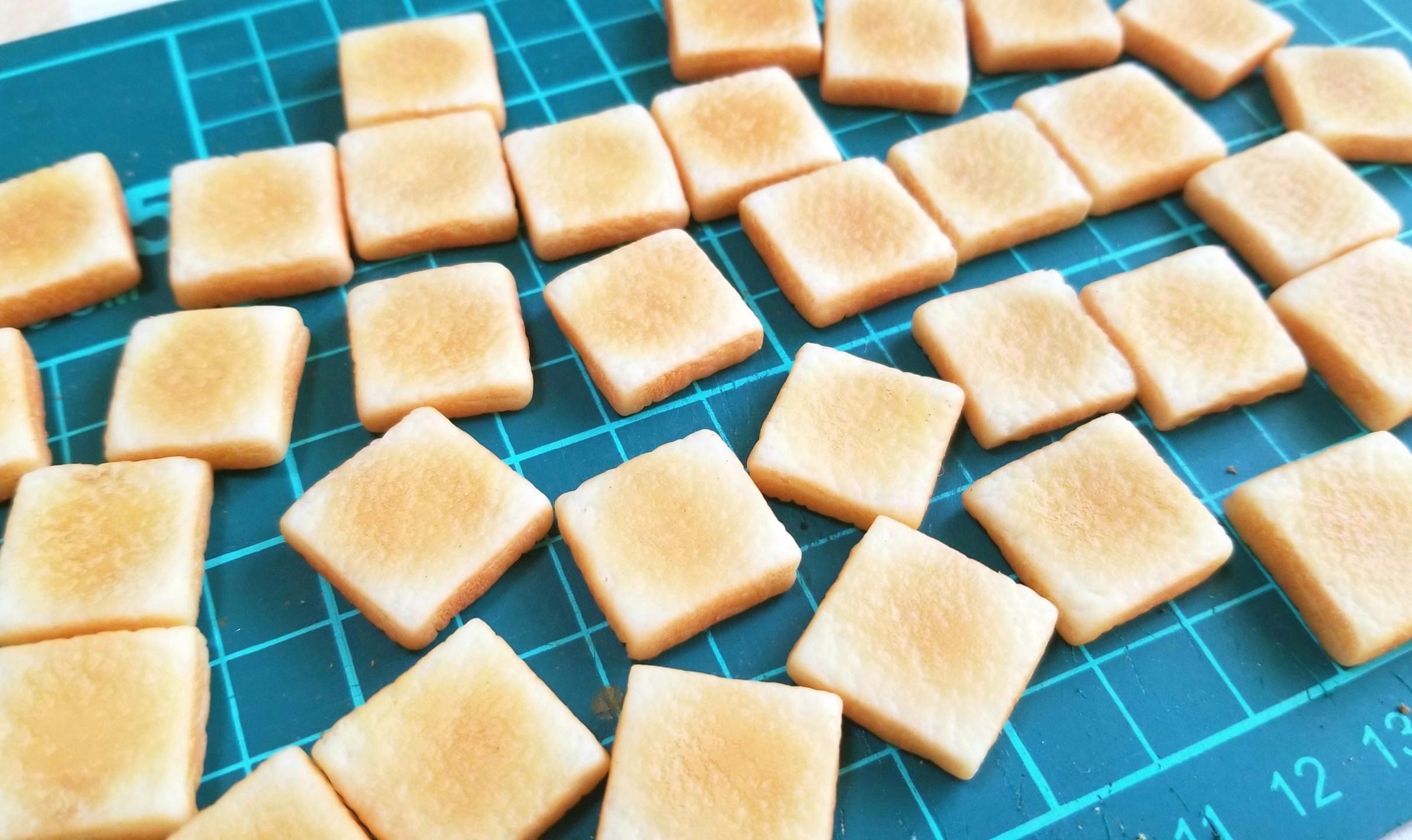 ラピュタパン,トースト,作り方,樹脂粘土,食パン,ドールハウス,オビツ