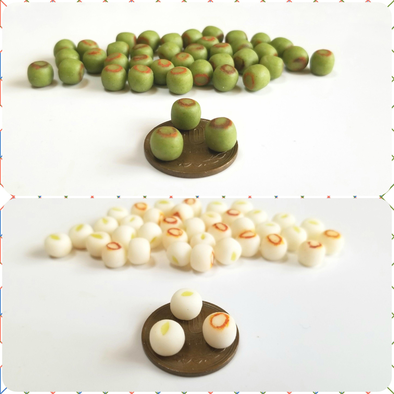 ミニチュアフード,和菓子,焼き大福,餅,樹脂粘土,シルバニア,オビツ11