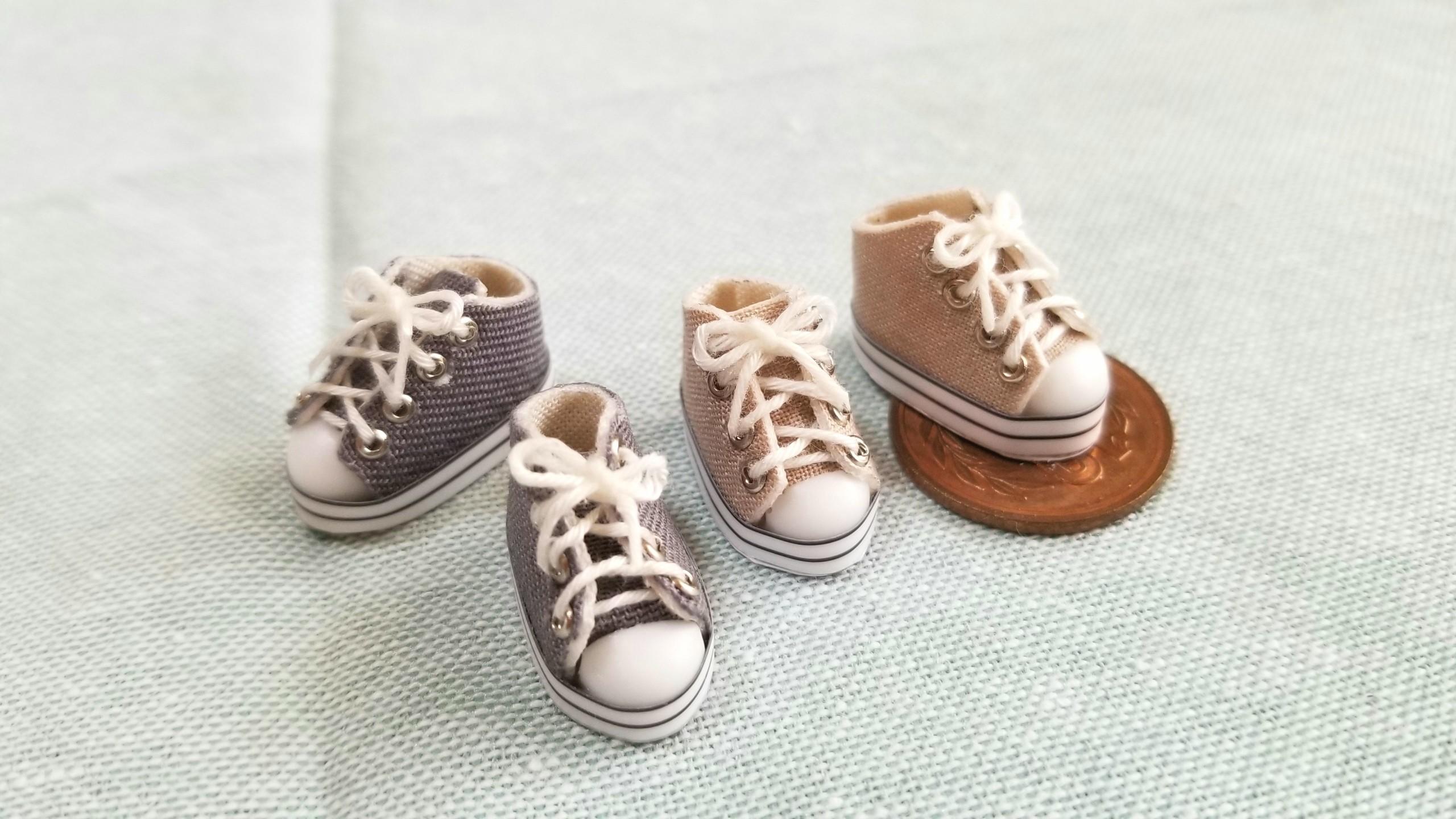 ミニチュア靴,スニーカー,オビツろいど,ドール用品,ハンドメイド