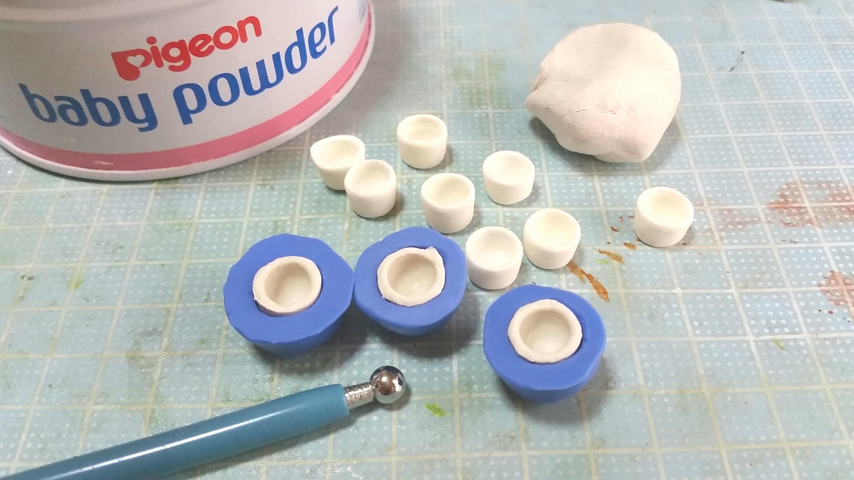 ミニチュアコップ湯呑み作り方,完全攻略,ミニチュアフード,石塑粘土