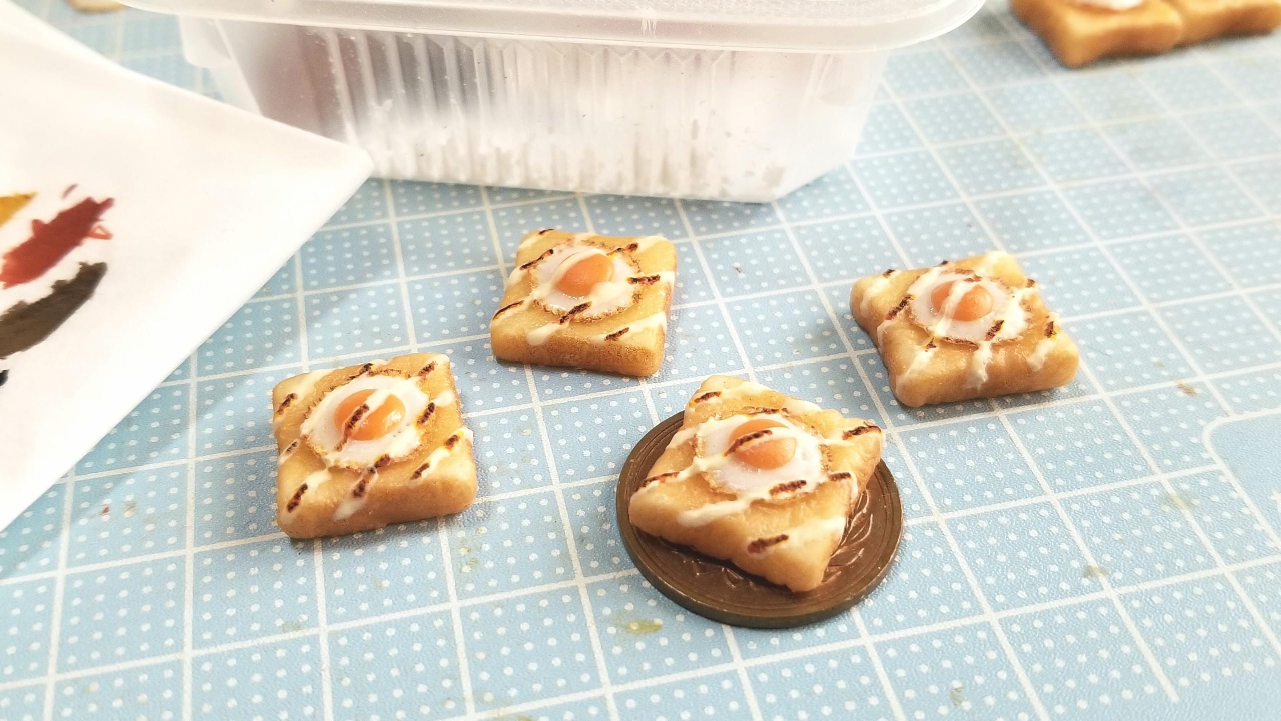 ミニチュア,美味しいアレンジラピュタトースト食パン,よもぎの作り方