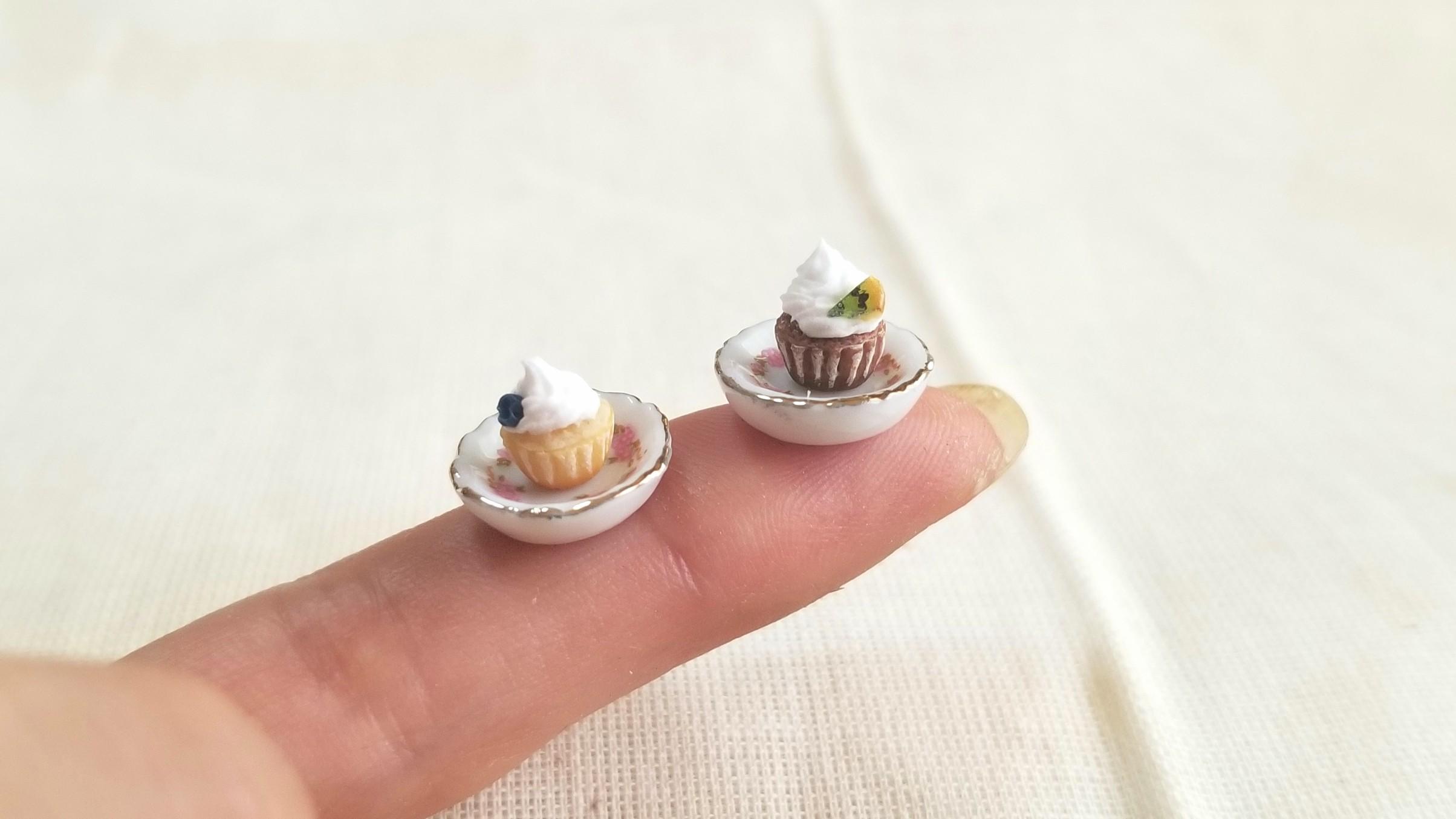 ミニチュアフード,小さい,可愛い,カップケーキ,樹脂粘土,フェイク