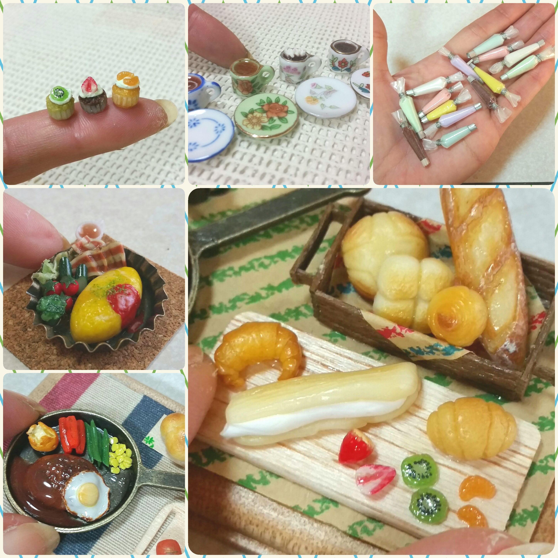 ミニチュアフード,樹脂粘土,食品サンプル,ハンドメイド,ドールハウス