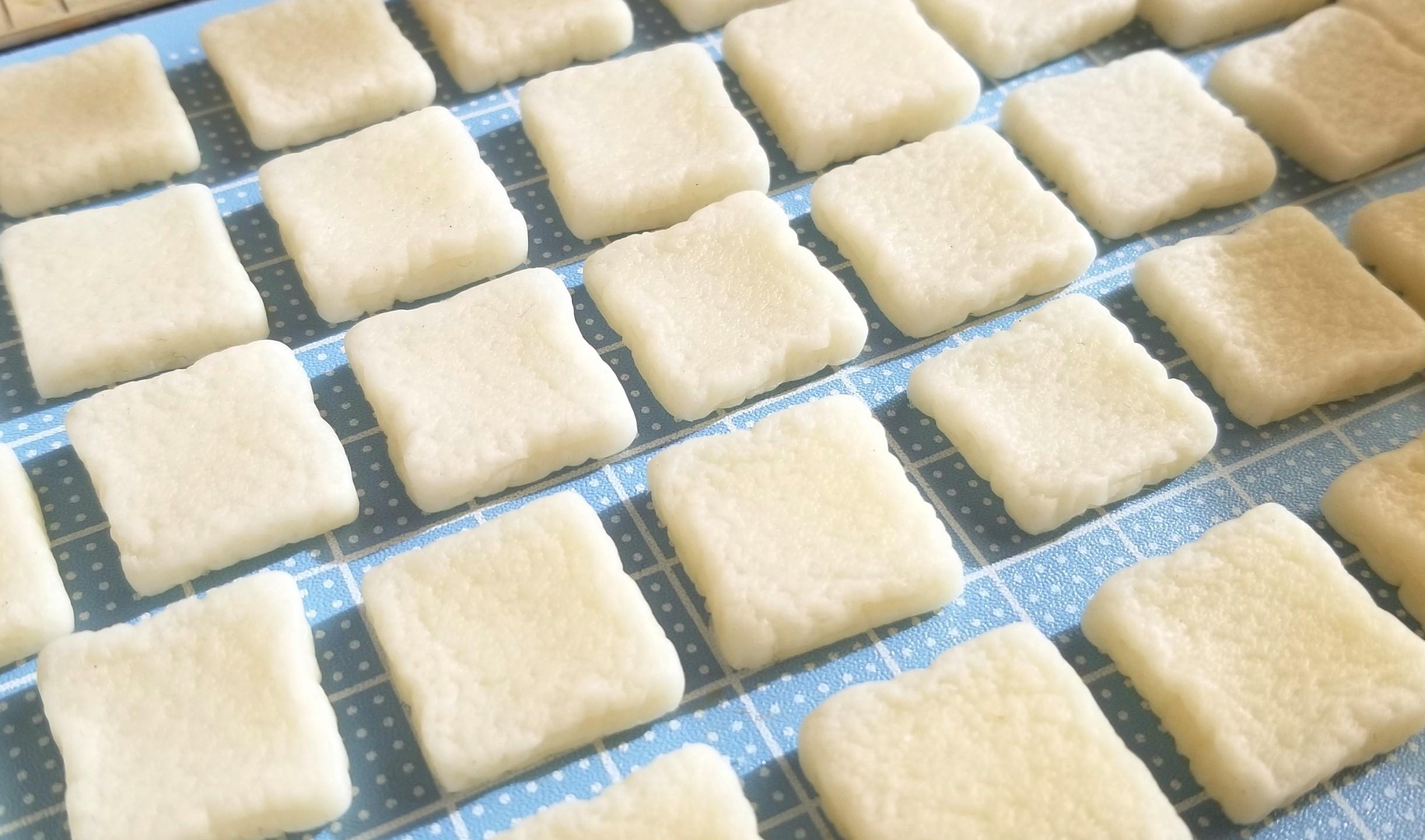 ミニチュア,食パン,トースト,作り方,樹脂粘土,フェイクフード,パン