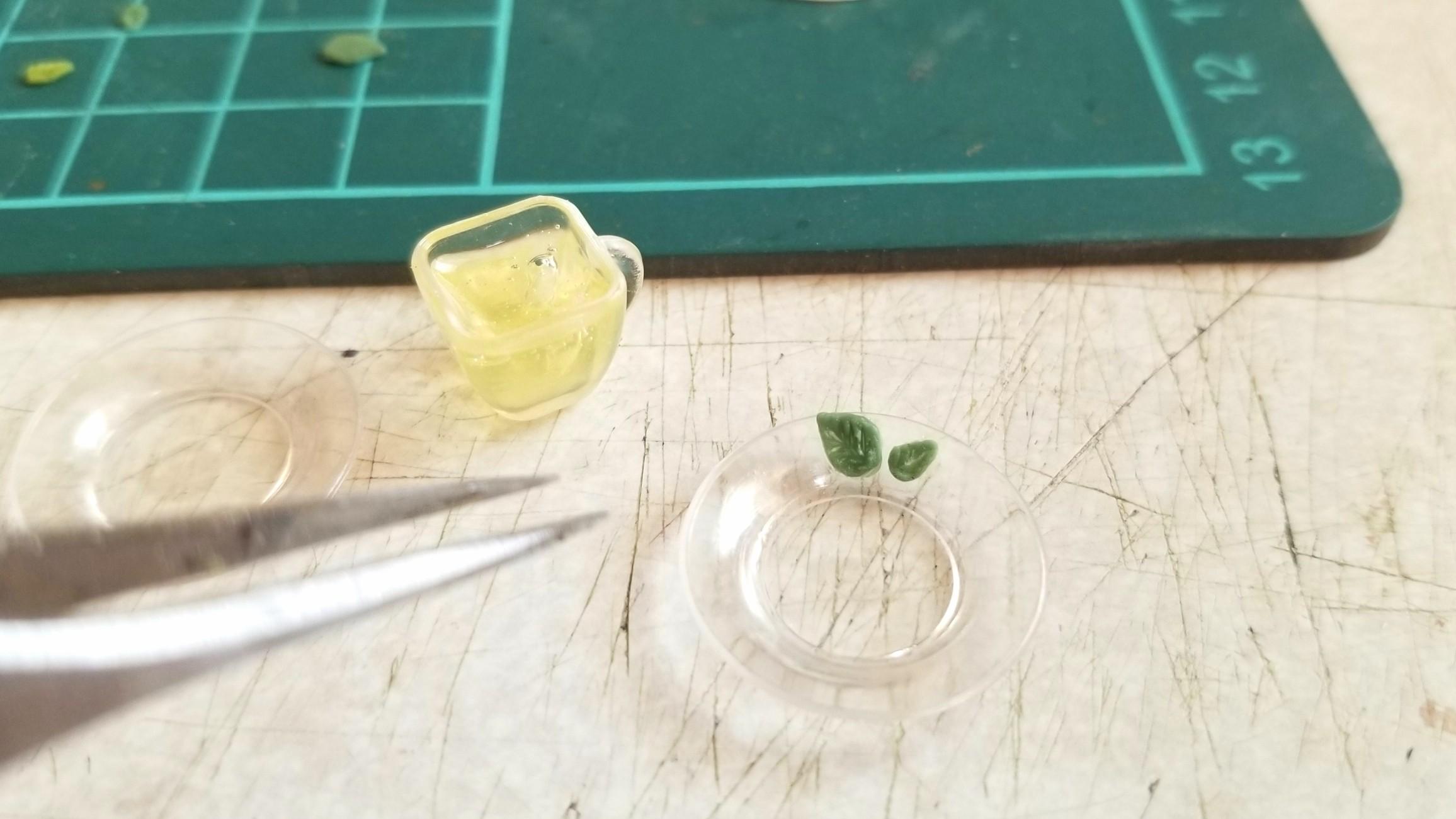 ミニチュア,ハーブティー,作り方,UVレジン,エキナセアレモン,紅茶
