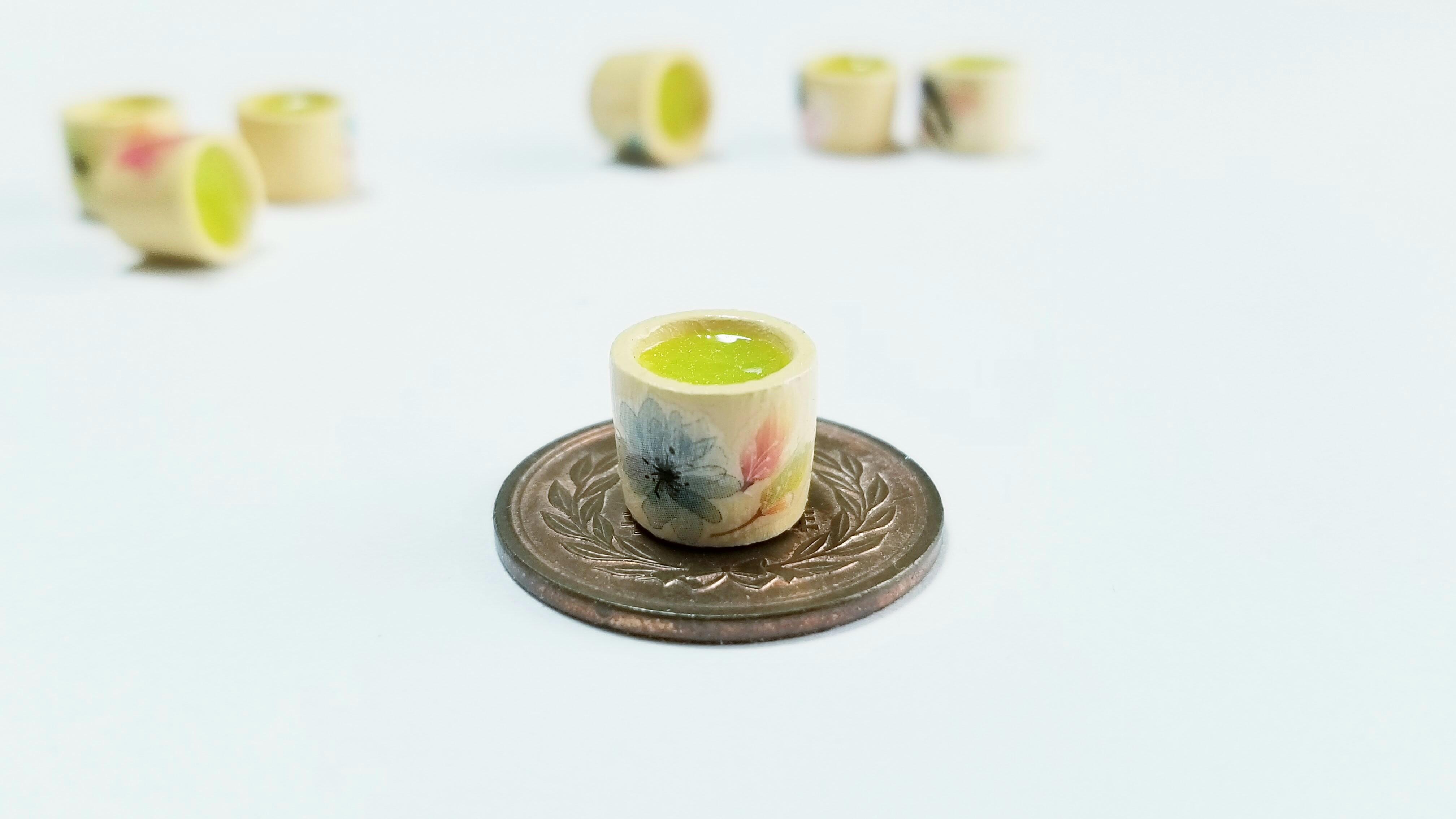 美味しいお抹茶限定自作ミニチュアアートかわいい人気ドール用小物