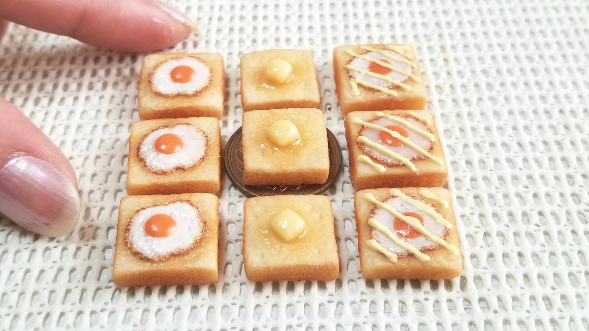 ミニチュアフード,パン,かわいい,食べ物,食品サンプル,よもぎブログ