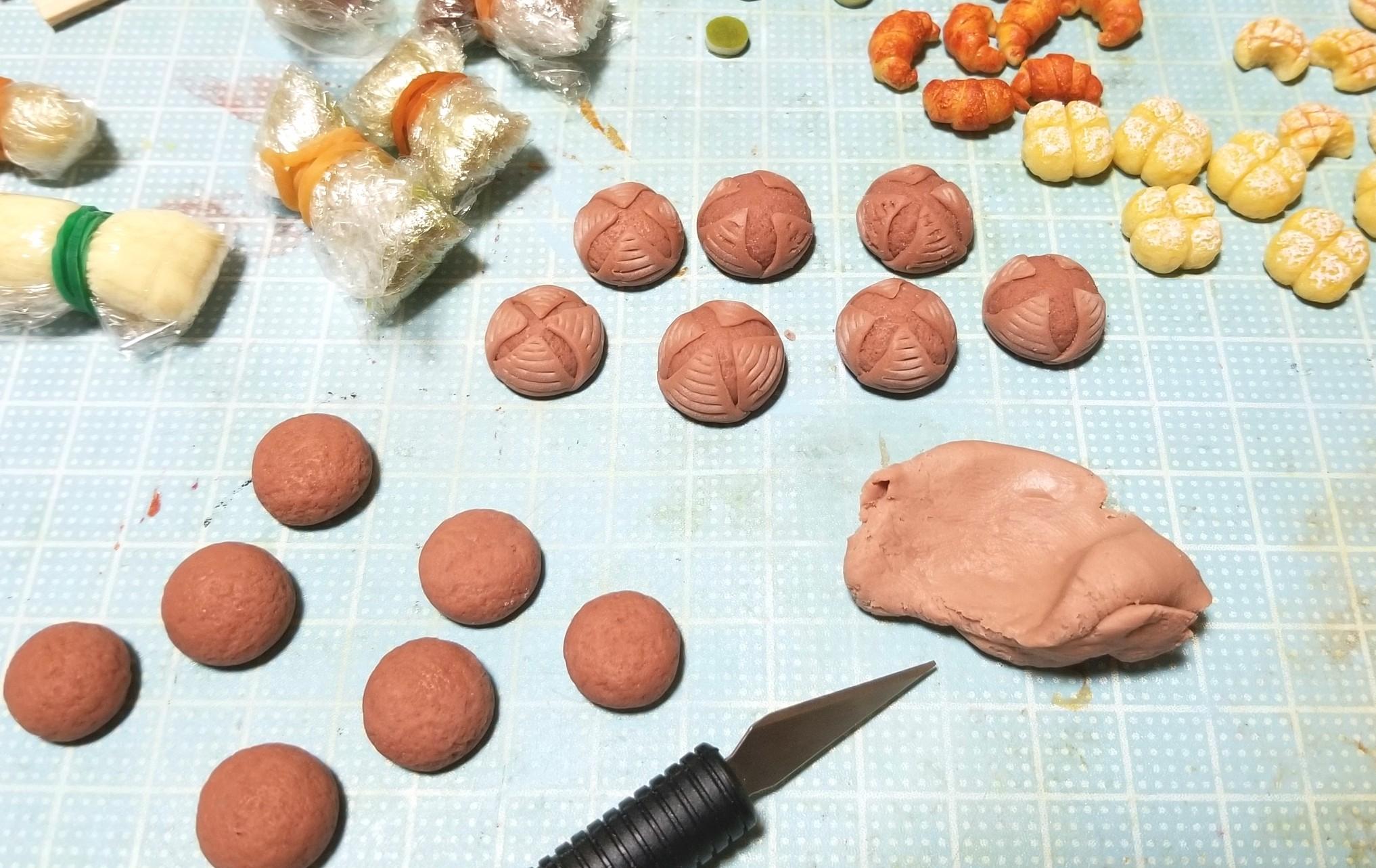ミニチュアフード,カンパーニュ,作り方,樹脂粘土,食品サンプル