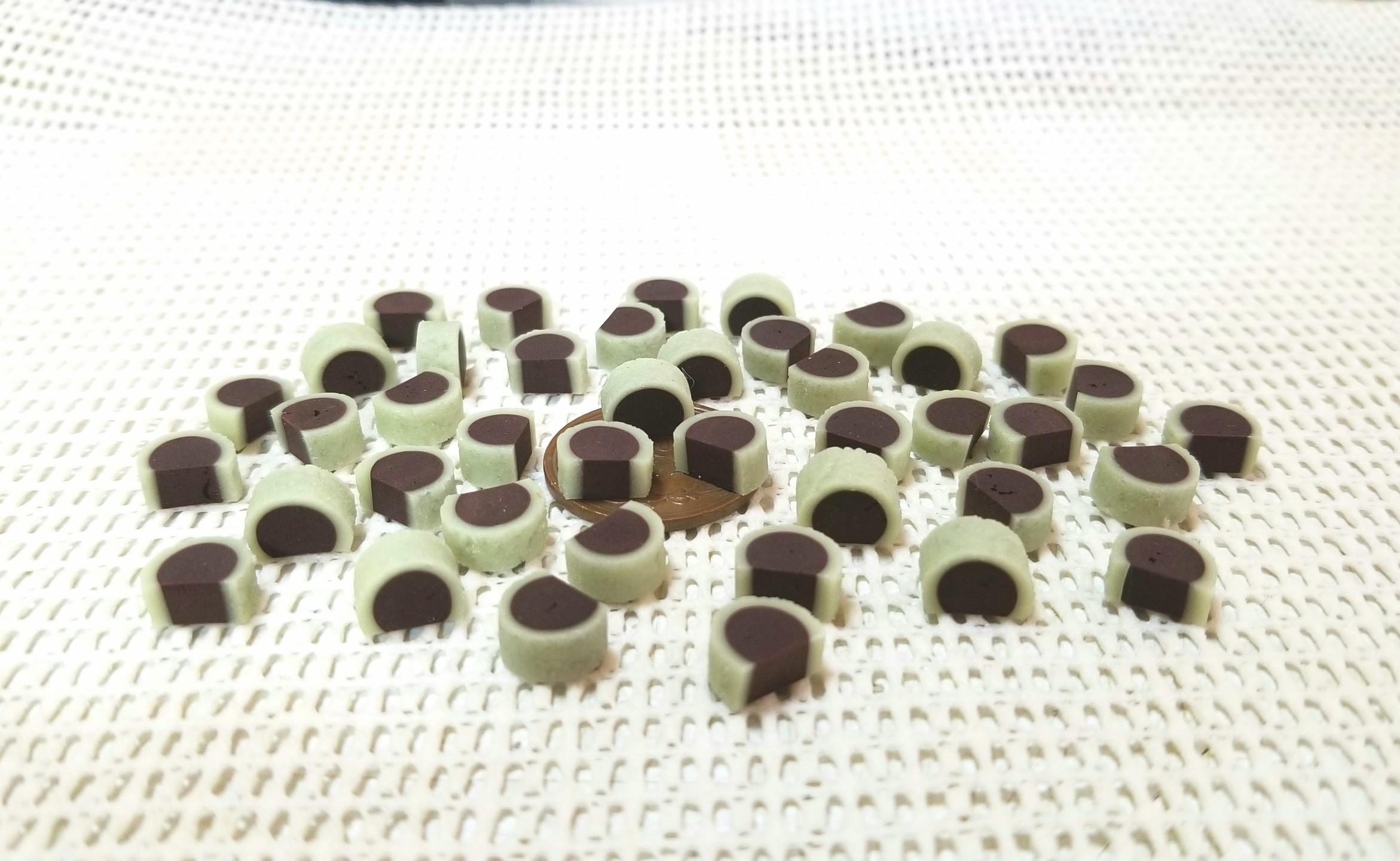 ミニチュア,和菓子,餡,あんこ,樹脂粘土,ドールハウス,シルバニア
