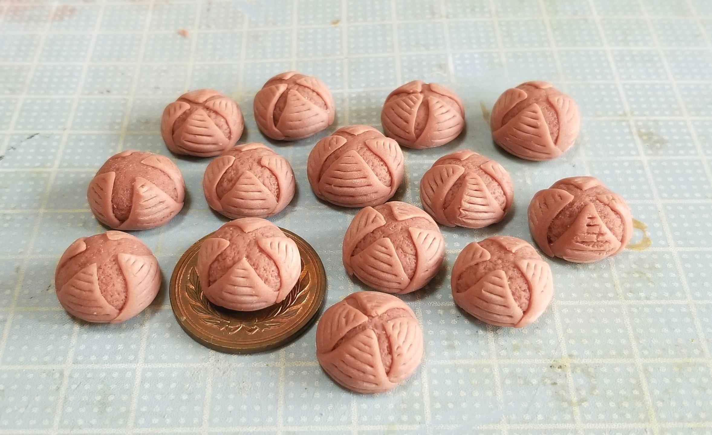 ミニチュア, カンパーニュ, 作り方, 樹脂粘土, 着色, ハンドメイド