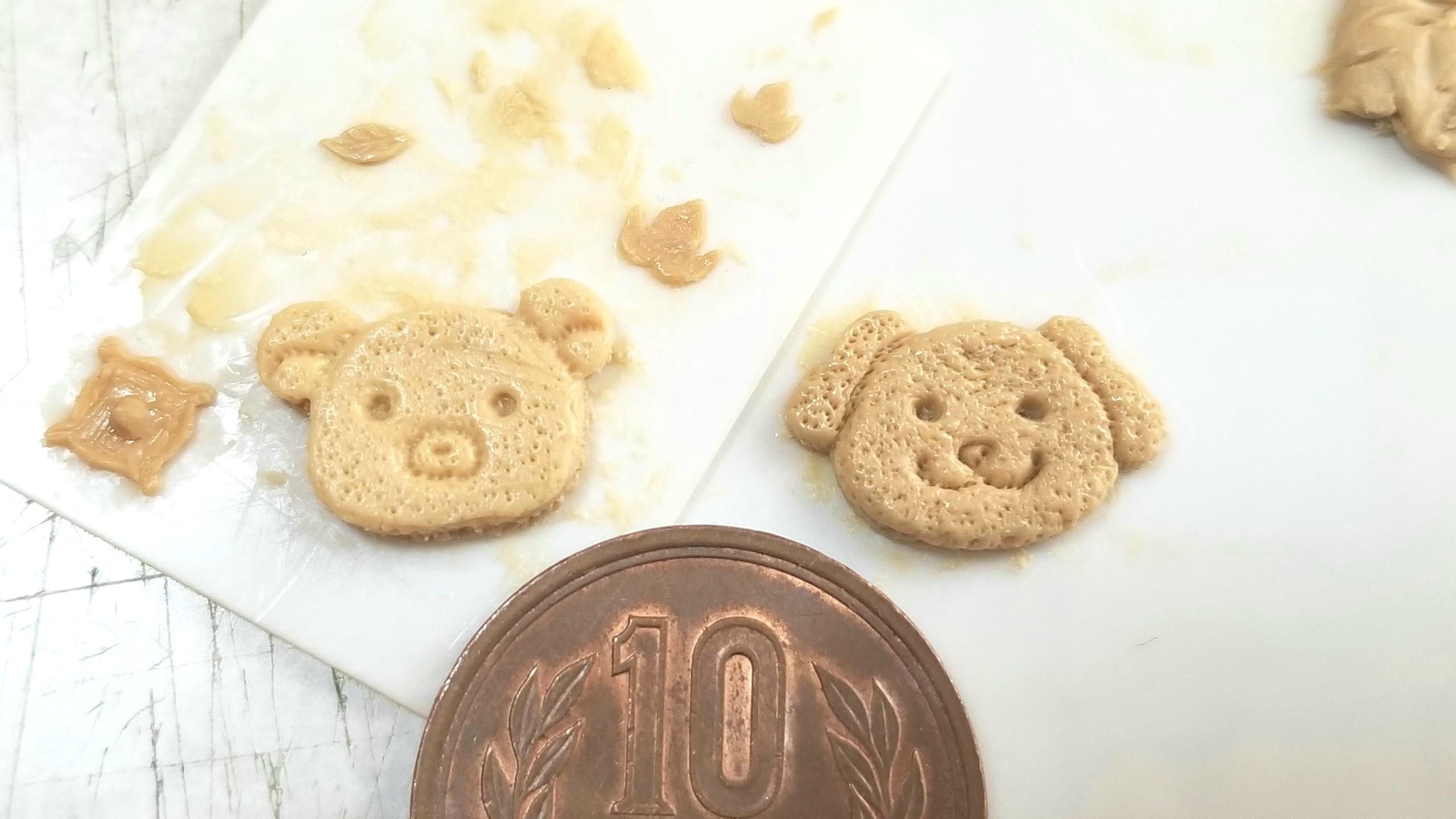 クッキーの型,ミニチュアフード,作り方,樹脂粘土,タミヤエポキシパテ