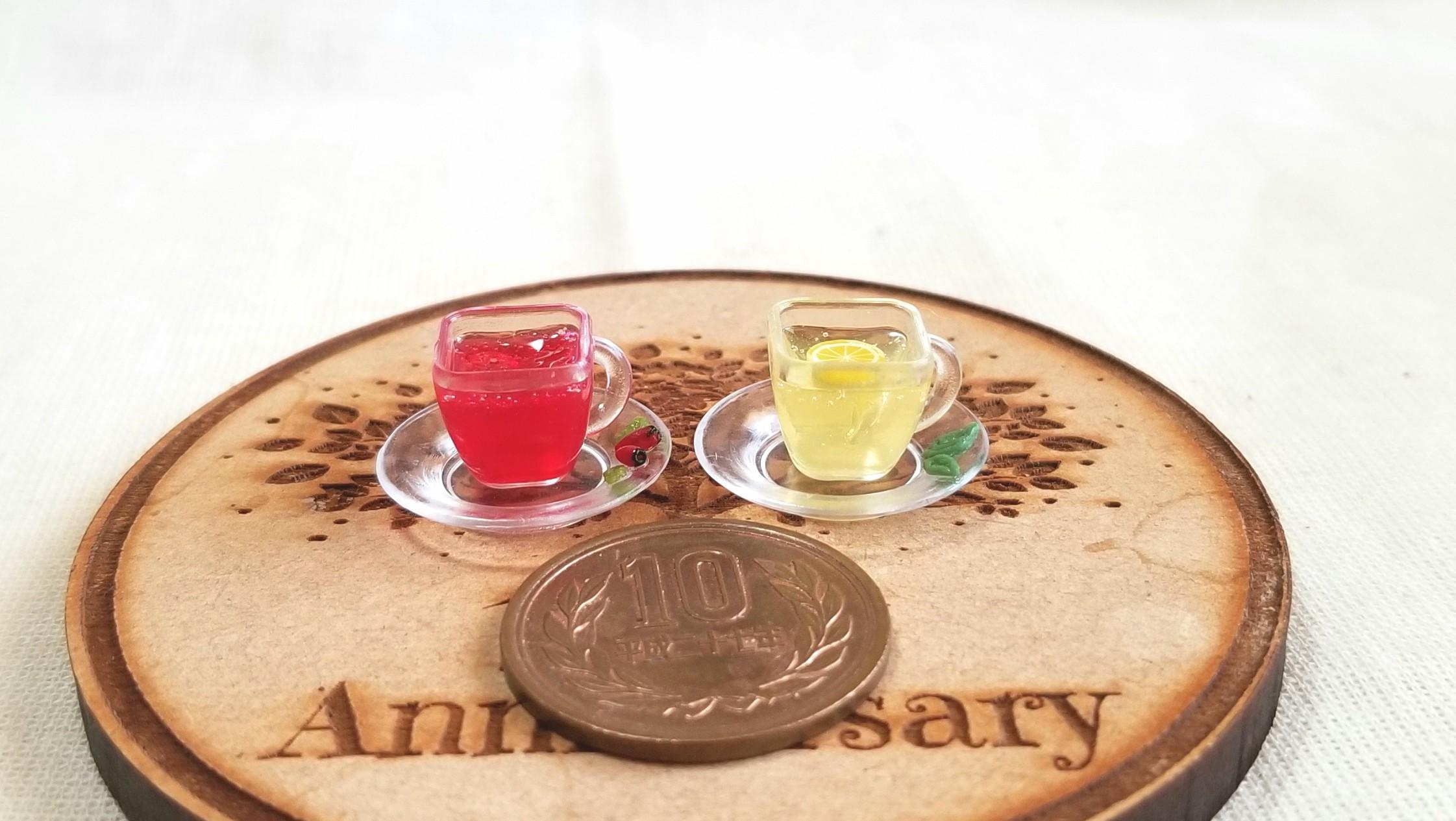 ハーブティー,紅茶,ドリンク,UVレジン,ミニチュアフード,ドール