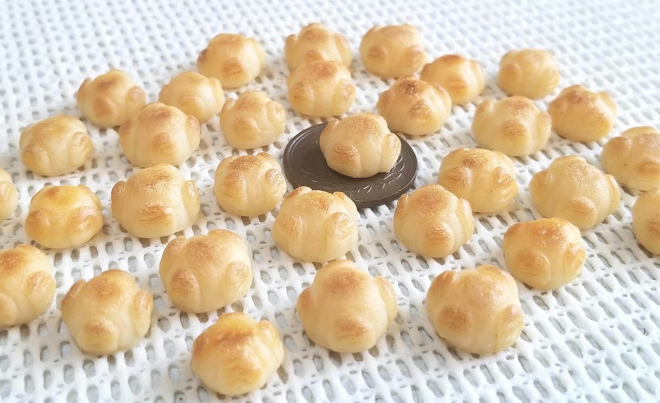 ミニチュアフード,パン,もっちりカンパーニュ,樹脂粘土,フェイク