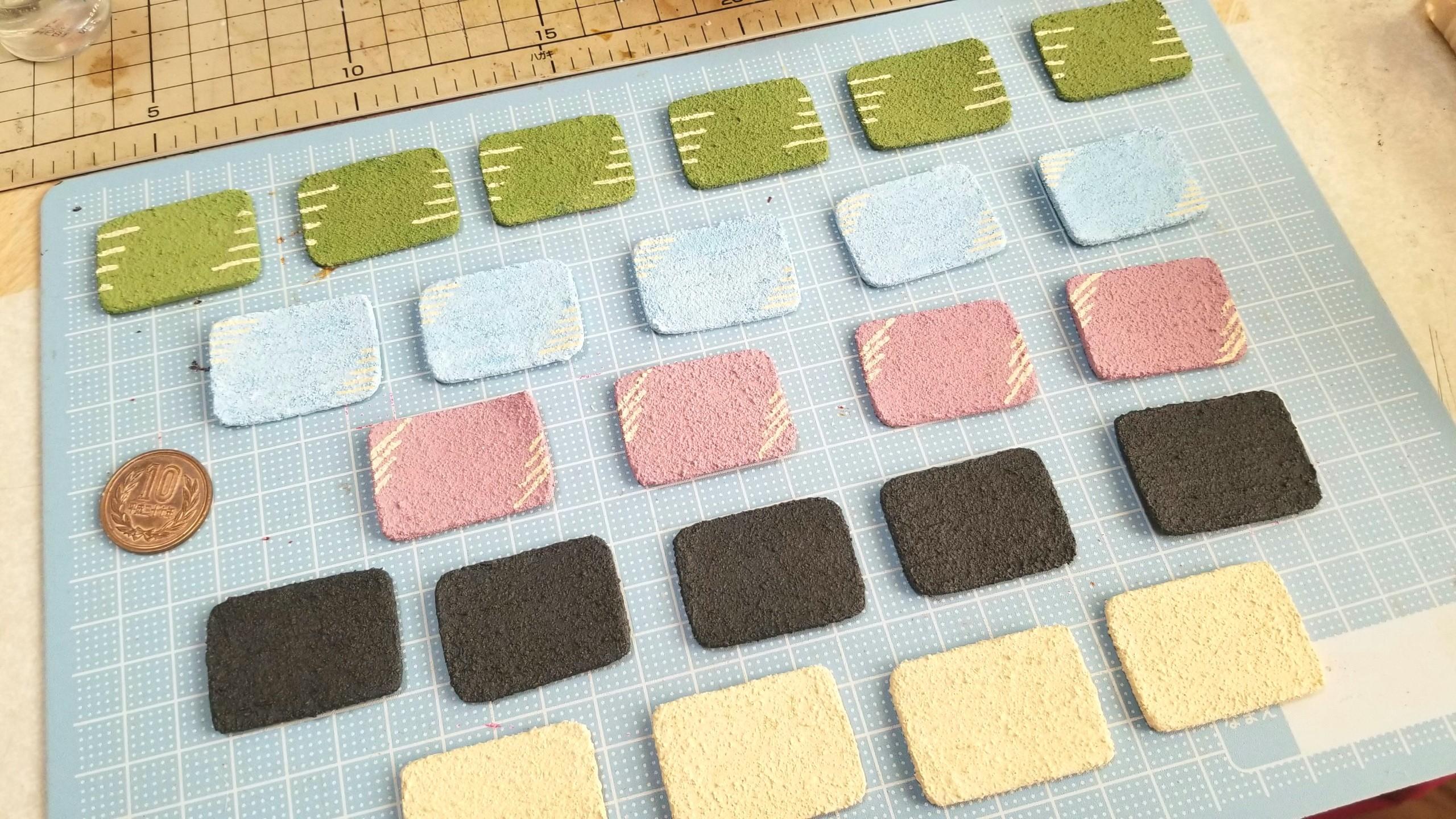 陶器風和食器の作り方,石塑粘土,ミニチュアフード,和風,和柄,模様