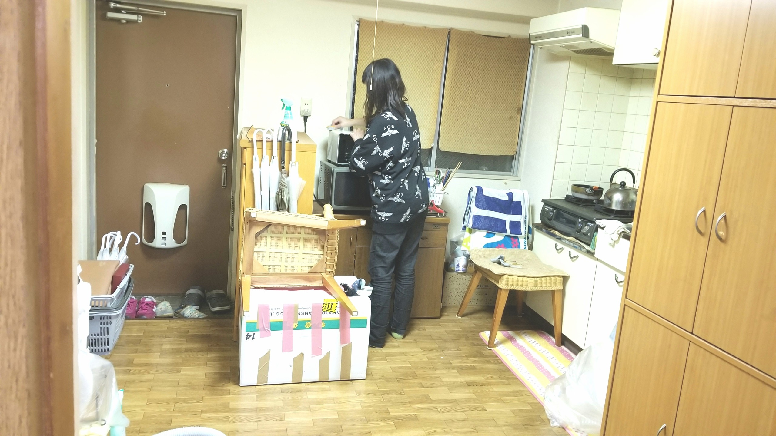 キッチンの大掃除,一人暮らしワンルームマンション,片付け,綺麗に