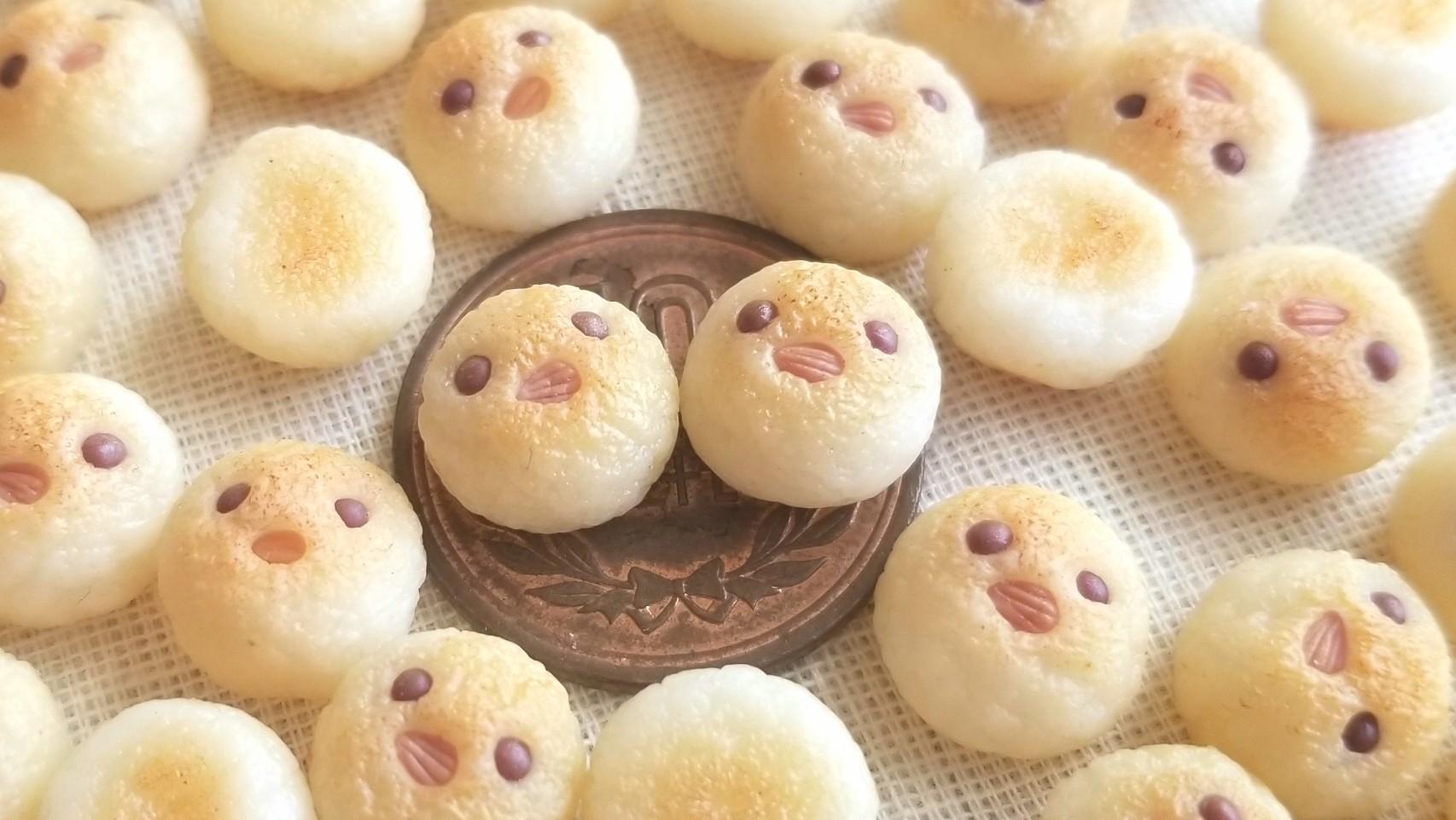 小さい可愛いひよこのぴよパン,樹脂粘土,ミニチュアフード,ドール用