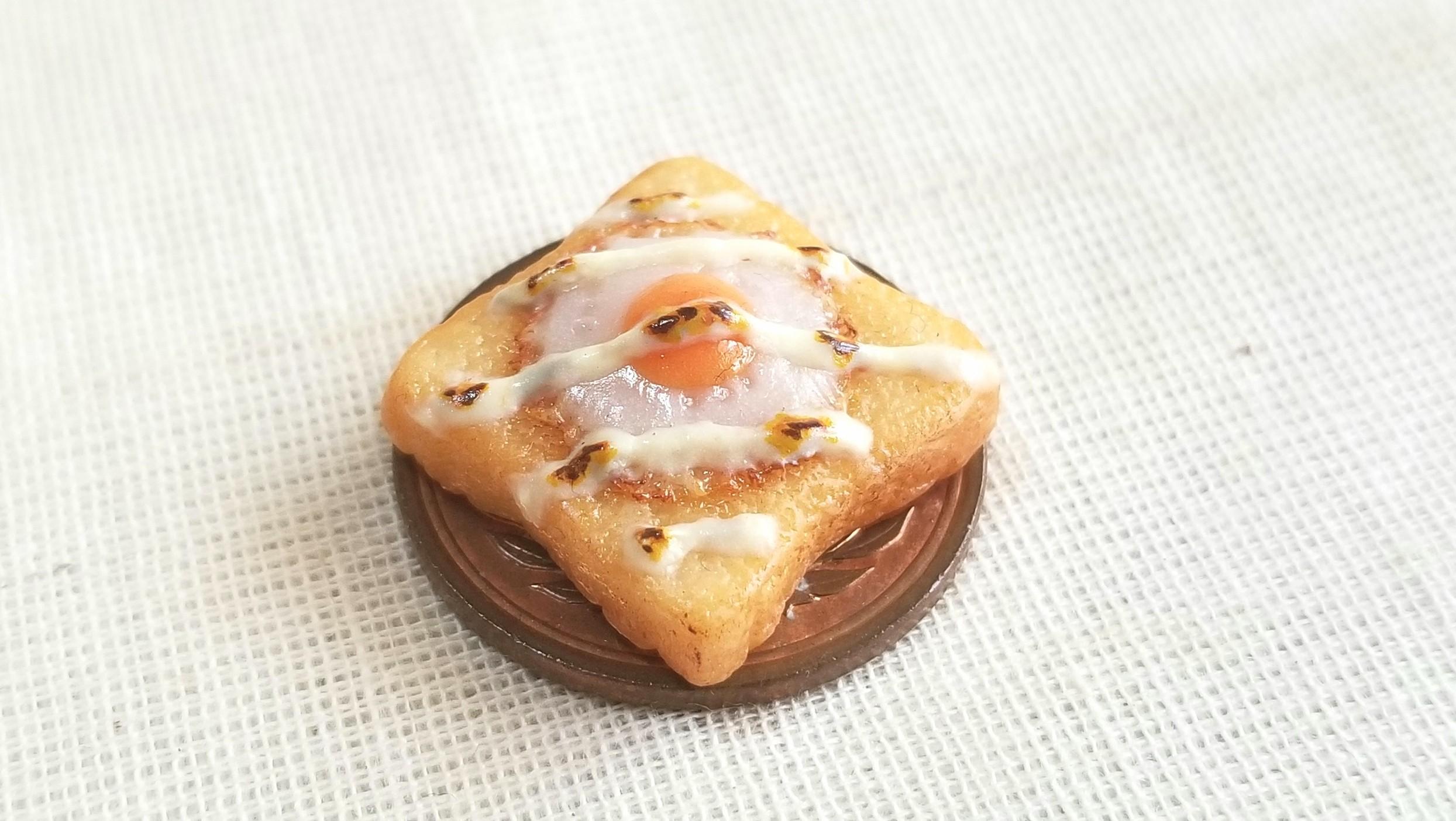 ミニチュア目玉焼きマヨネーズトースト,ミンネで販売中,ドール用小物