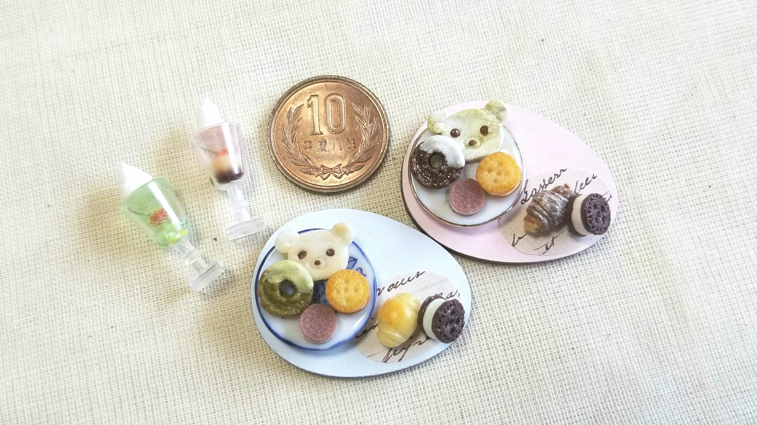 ミニチュア樹脂粘土,小さな可愛いスイーツお菓子,ハンドメイド小物