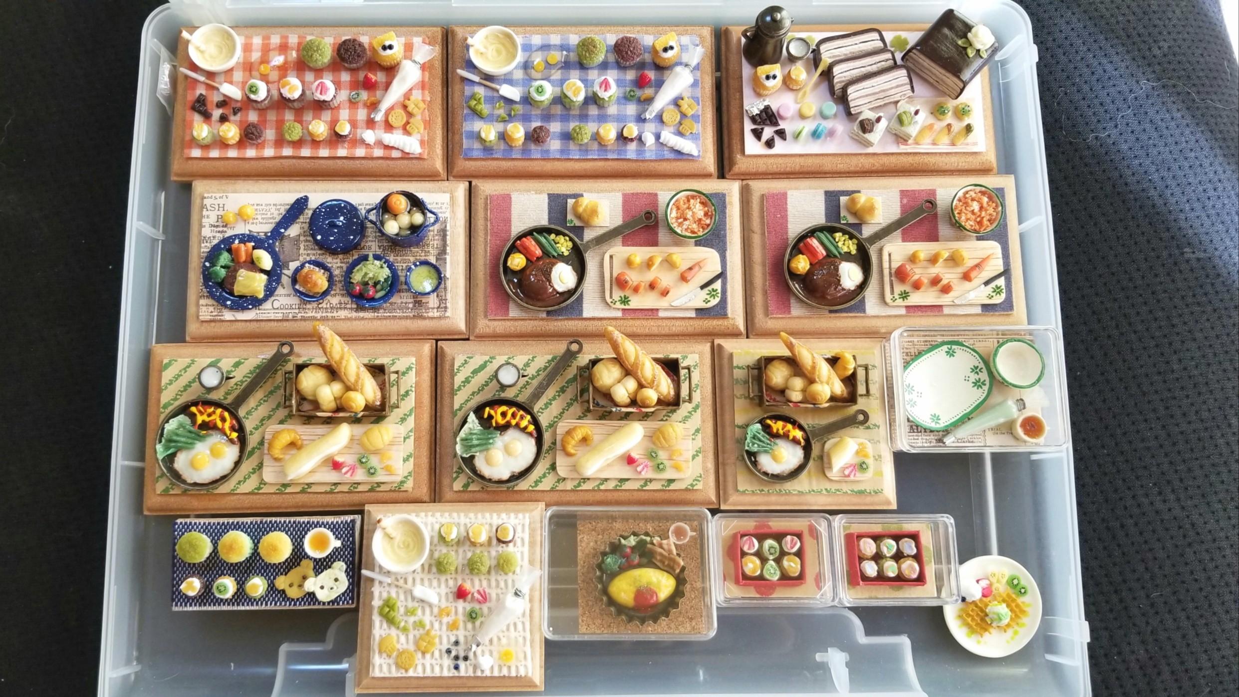 イベント用,ミニチュアフード,樹脂粘土,全作品,食品サンプル,食玩