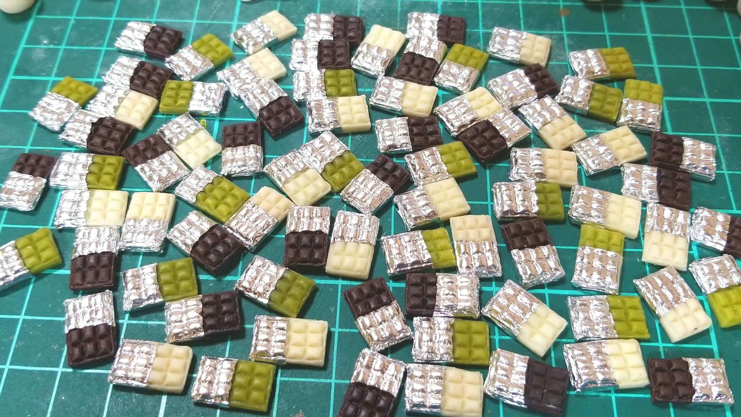 ミニチュア,板チョコレート,ねんどろ刀剣男士,キューポッシュ,ドール