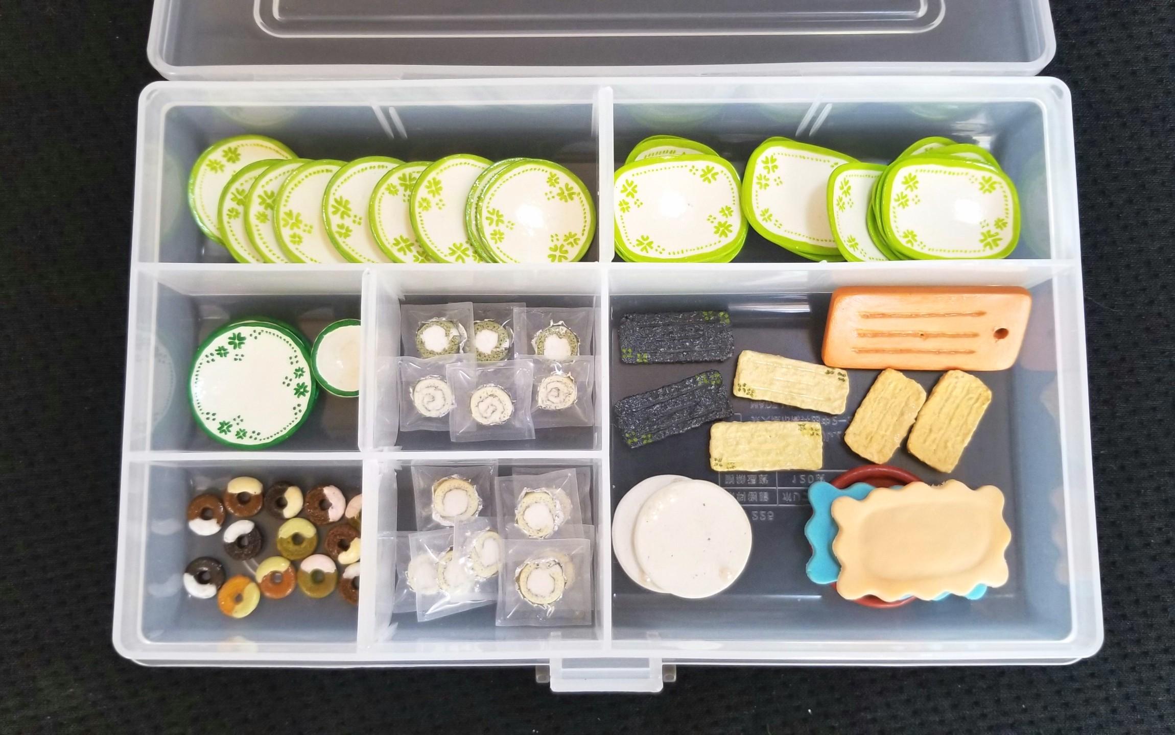 ミニチュア,お皿,食器,ドーナツ,粘土,ドールハウス,ハンドメイド