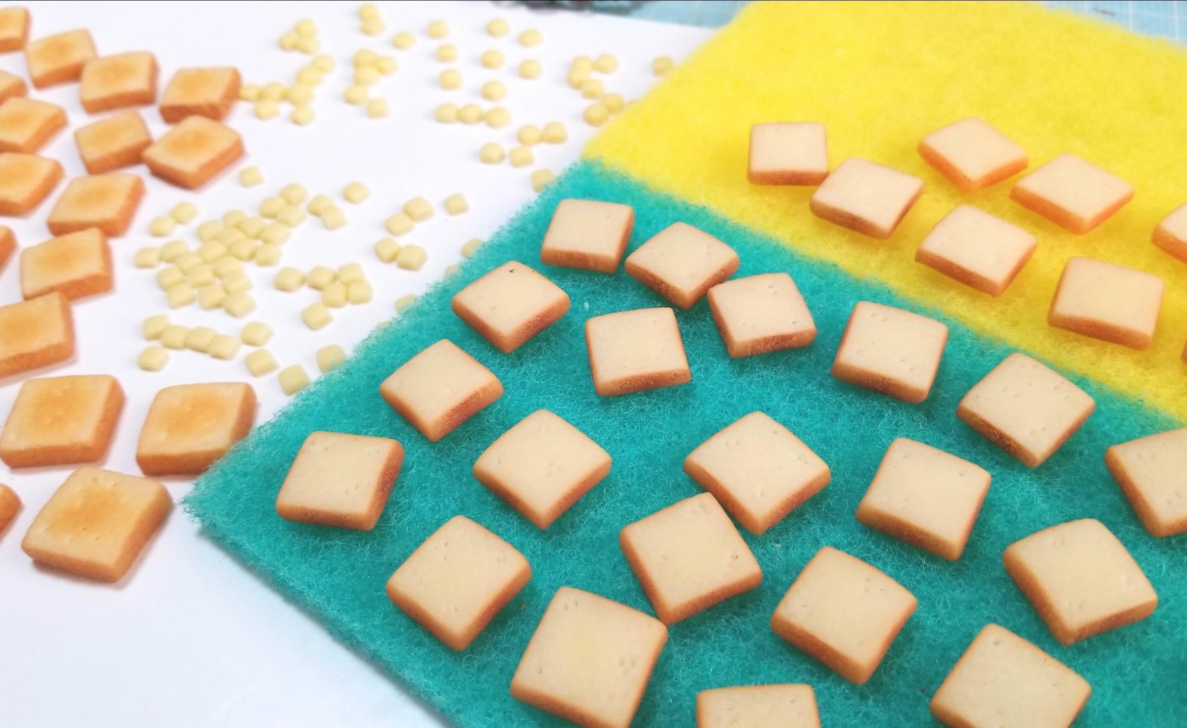 ミニチュア,食パン,トースト,作り方,樹脂粘土,食品サンプル,ドール